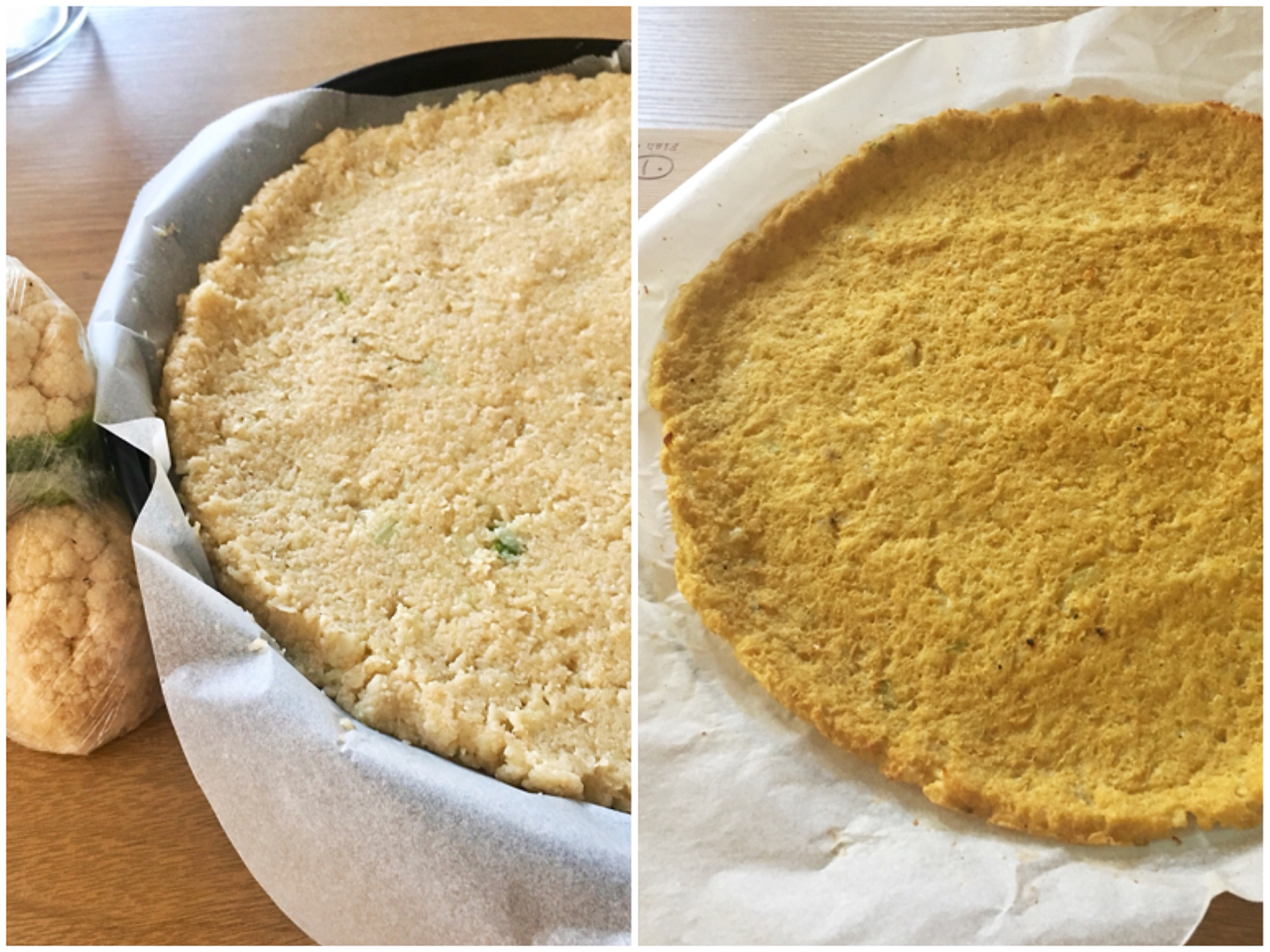Chef John's Cauliflower Pizza Crust PJpipii