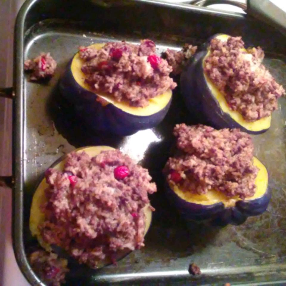 Venison and Wild Rice Stuffed Acorn Squash al.rosenkranz@gmail.com