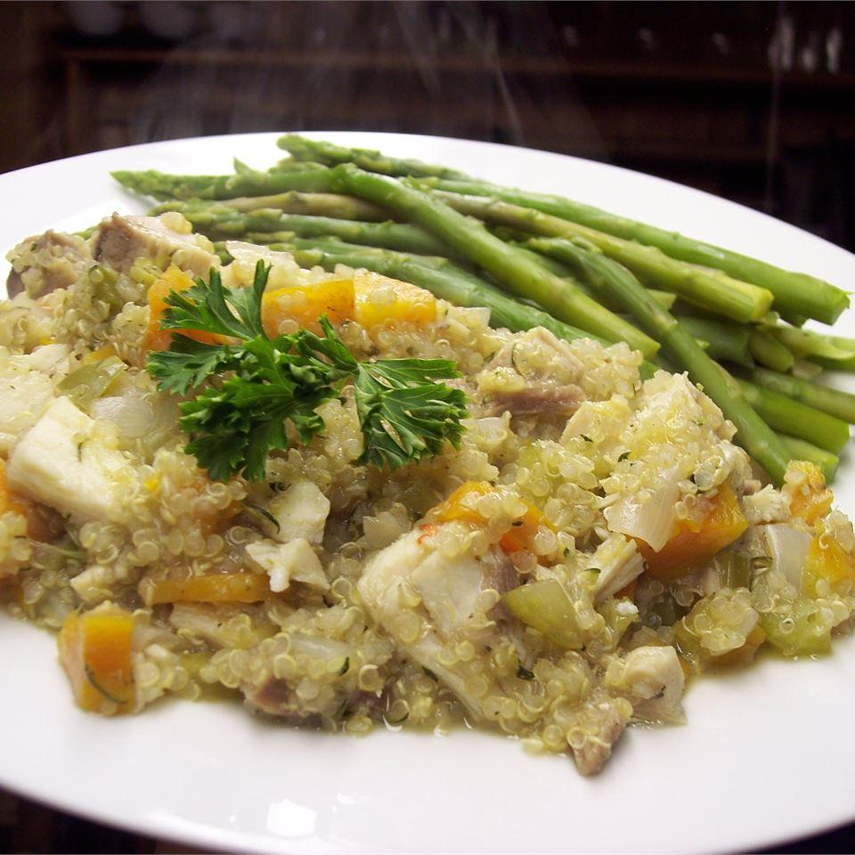 Quinoa Pilaf with Shredded Chicken thomlynn61601