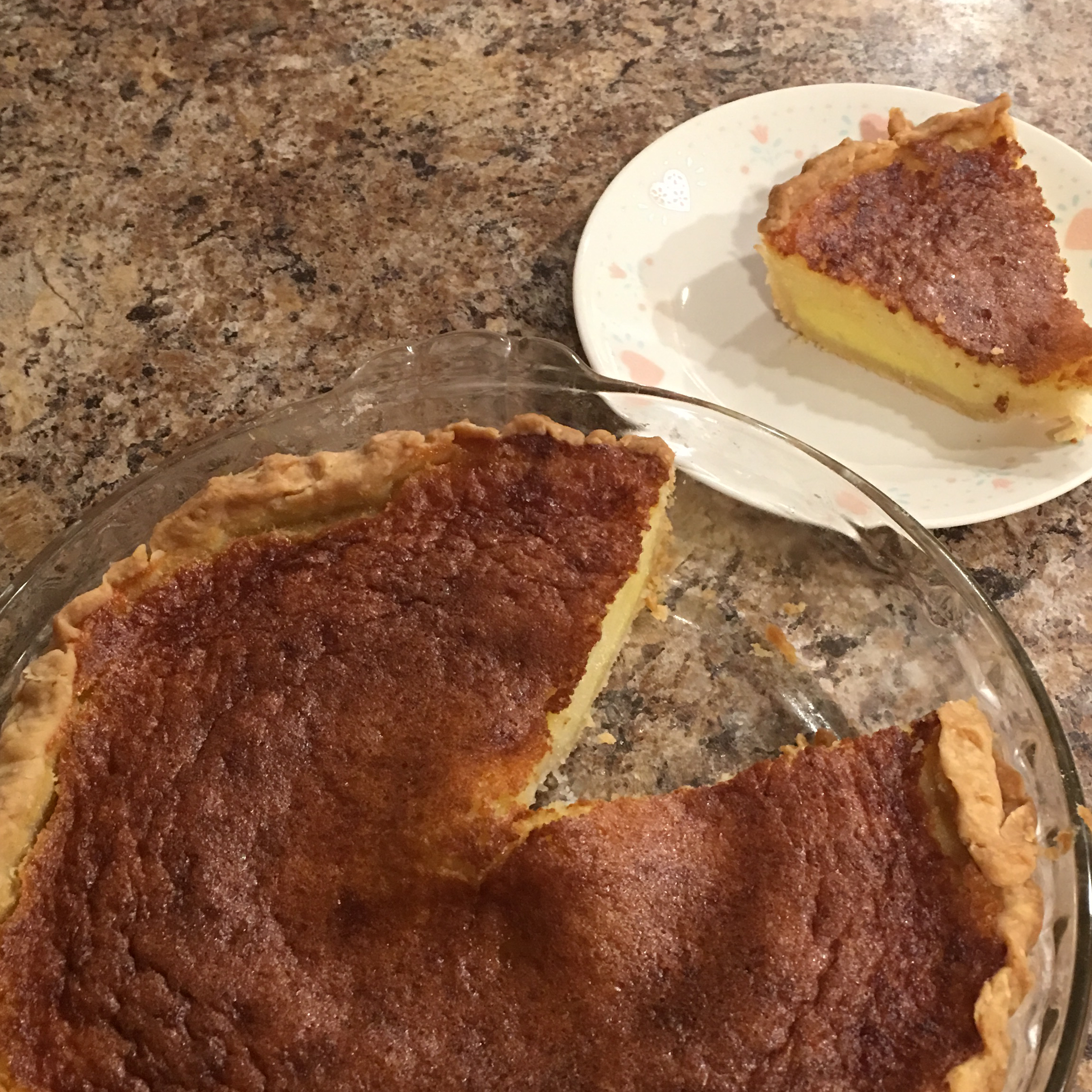 Buttermilk Pie with Molasses Chiefers