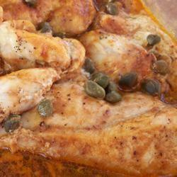 Caper Baked Chicken pomplemousse