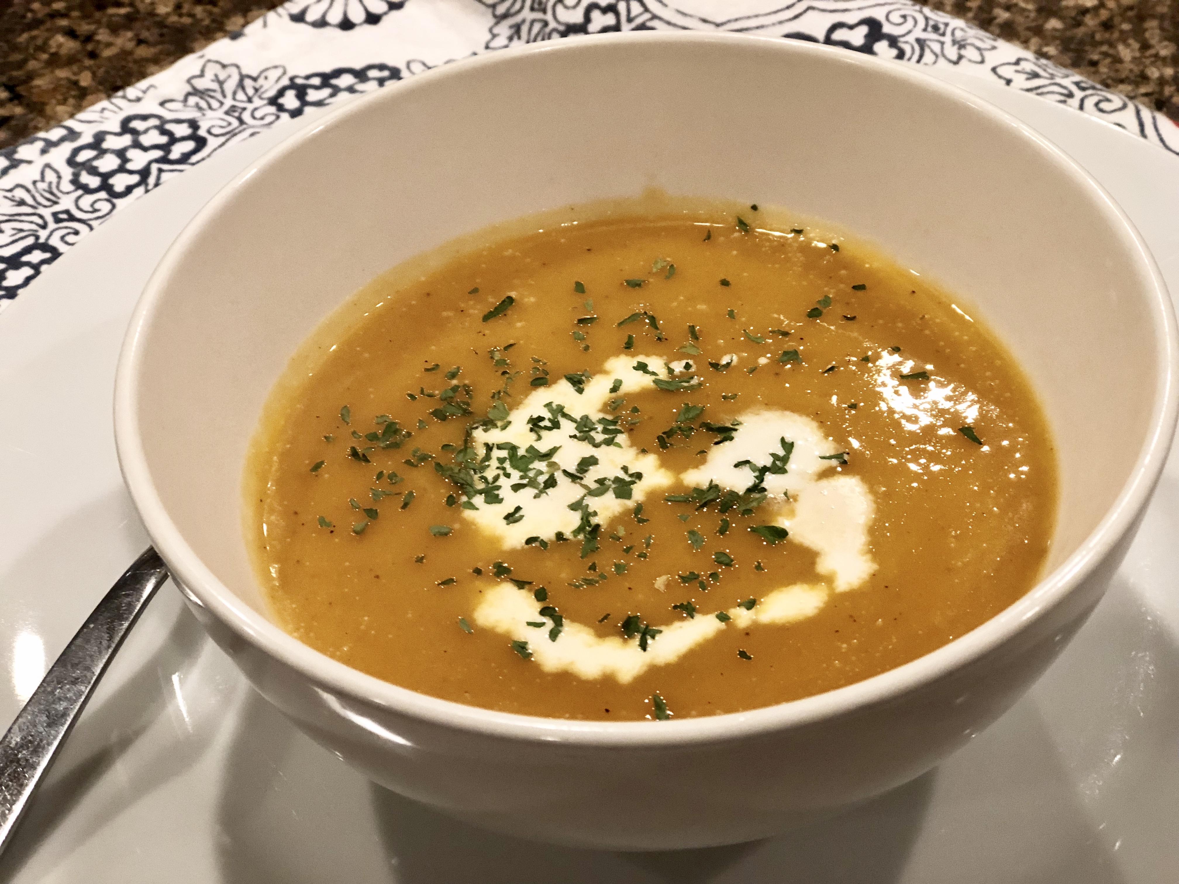 Instant Pot® Spicy Butternut Squash Soup Fioa