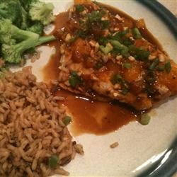 Baked Snapper with Mandarin Oranges, Cashews and Ginger MICHELLE0011