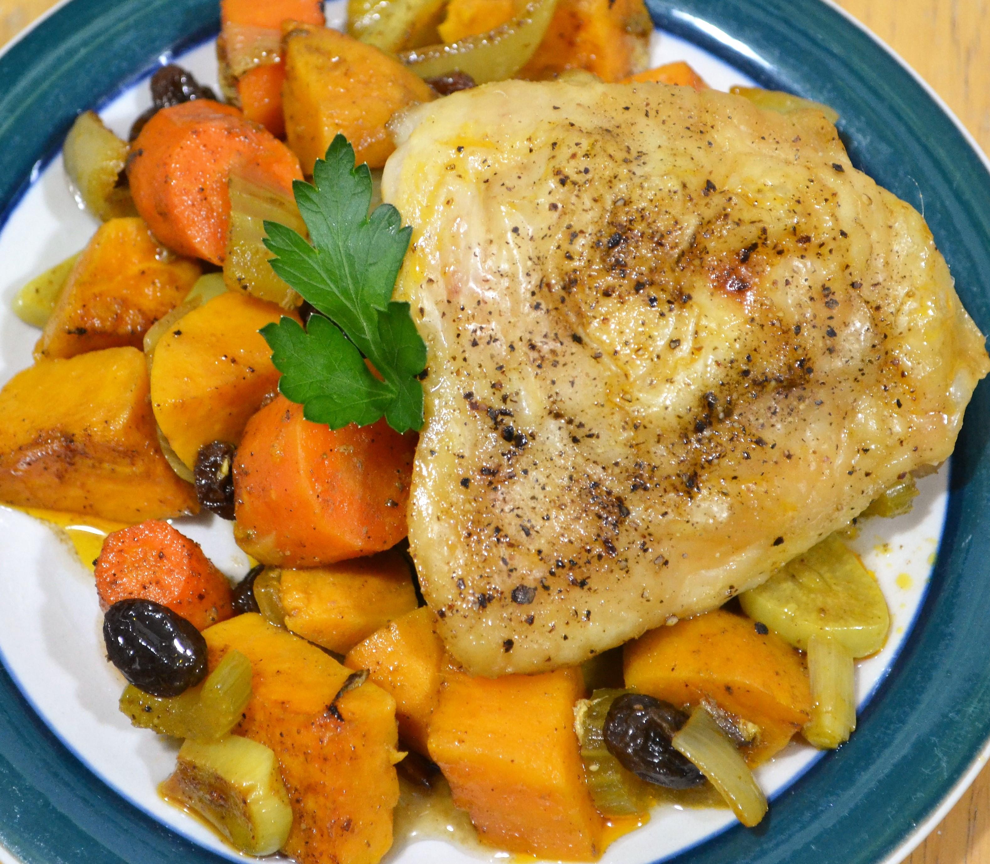 Tajine de Poulet aux Carottes et Patates Douces (Chicken and Sweet Potato Tagine) Kim