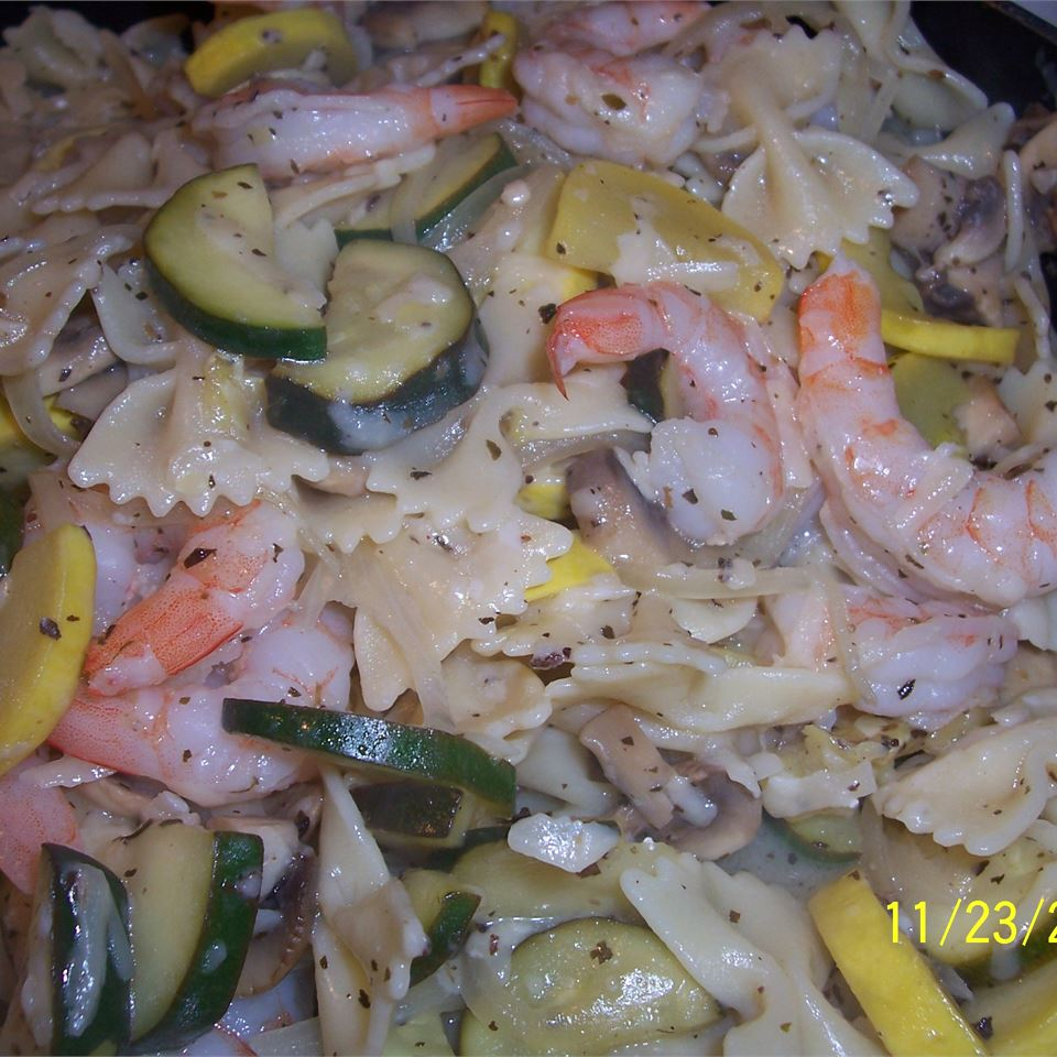 Shrimp with Penne and Squash Grumpy's Honeybunch