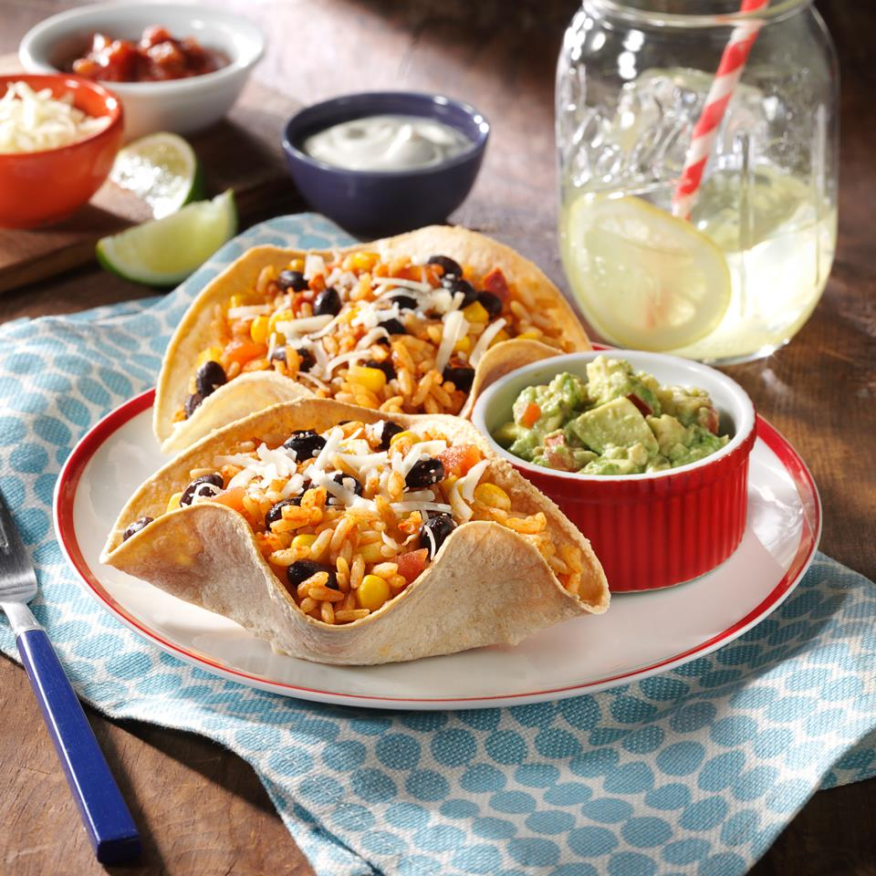 Black Bean and Rice Open-Faced Tacos