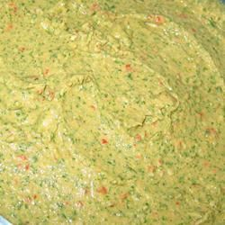 Spinach Artichoke Hummus with Roasted Red Peppers JARRIE