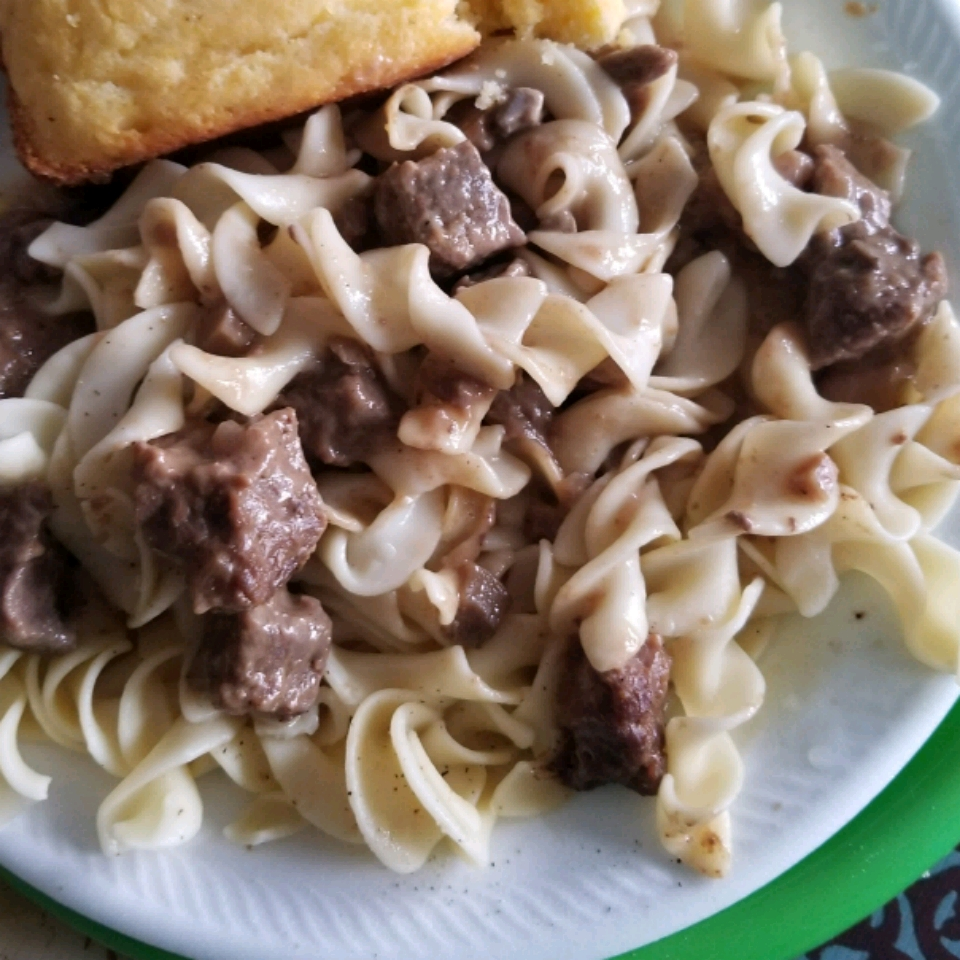 Beef Tips and Noodles