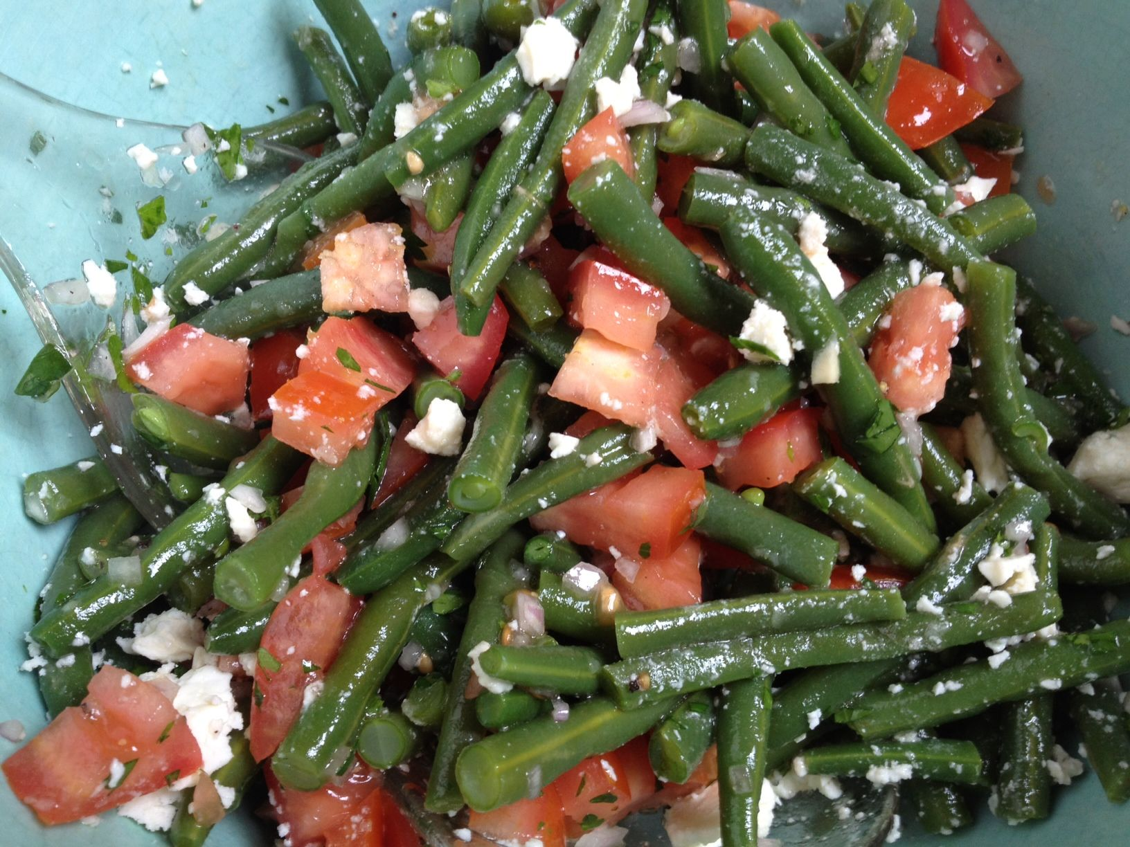 Greek Green Bean Salad with Feta and Tomatoes AllrecipesPhoto
