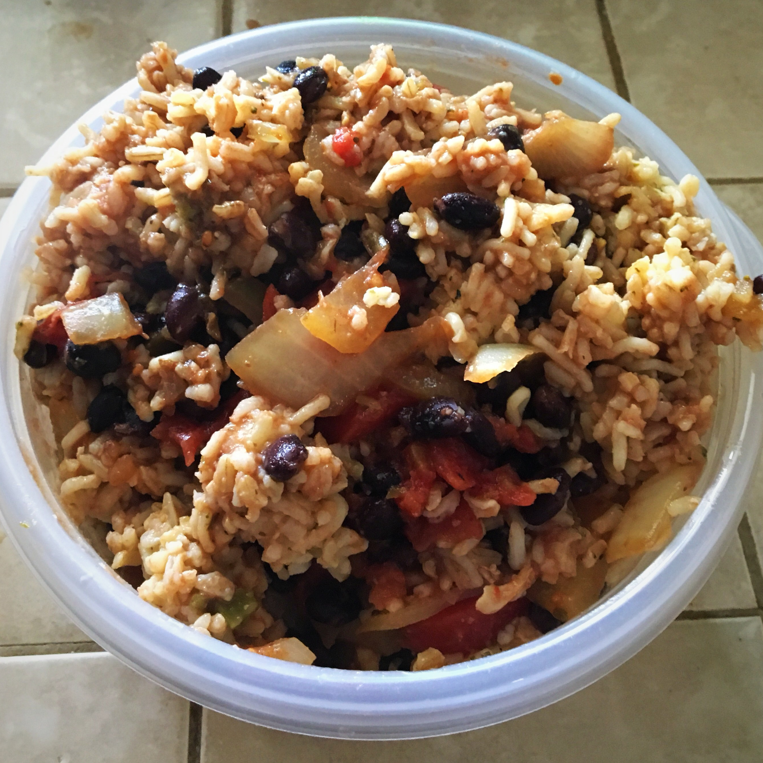 Quick Black Beans and Rice Kirsten