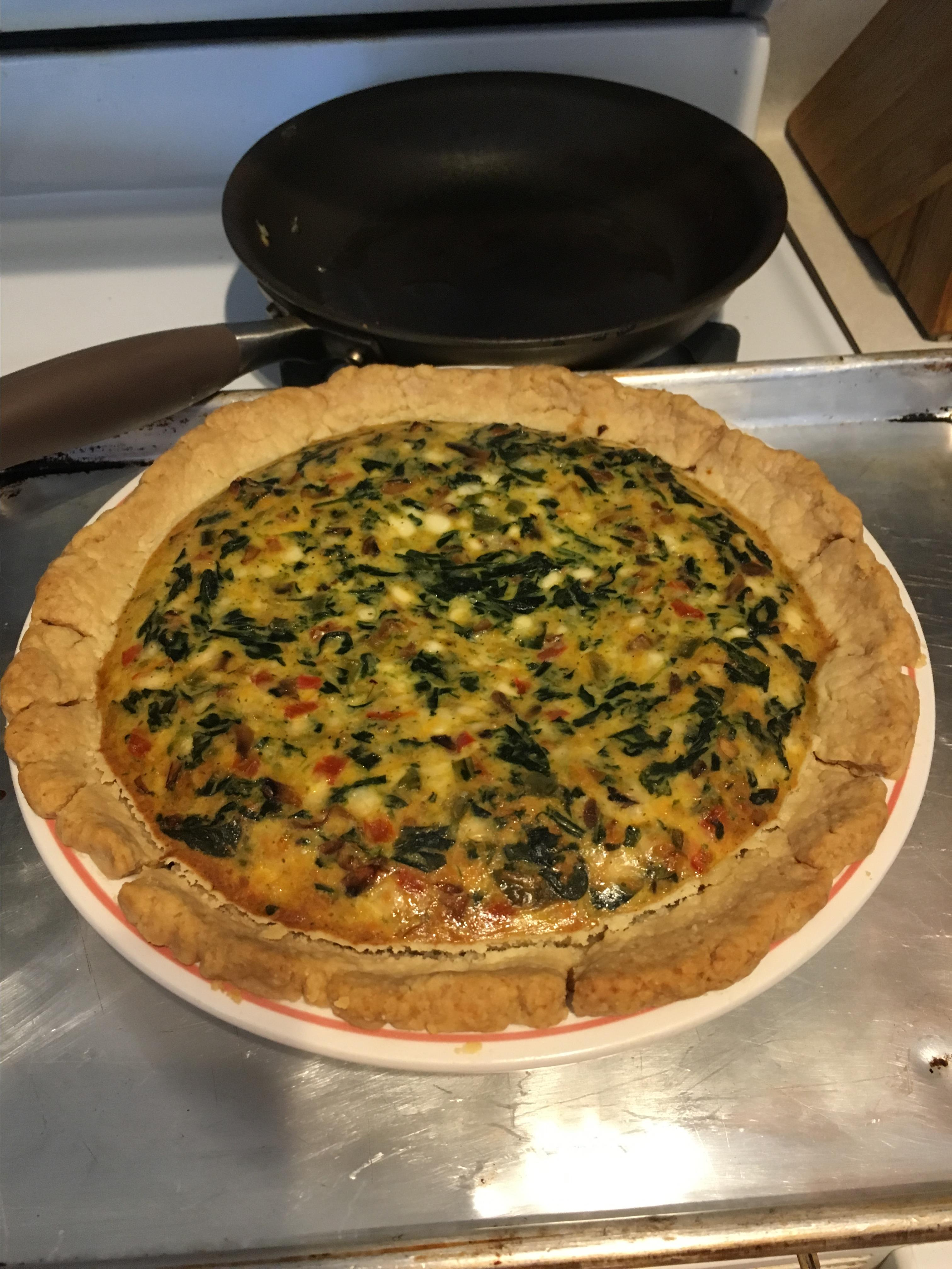 Spinach Quiche with Cottage Cheese heather p