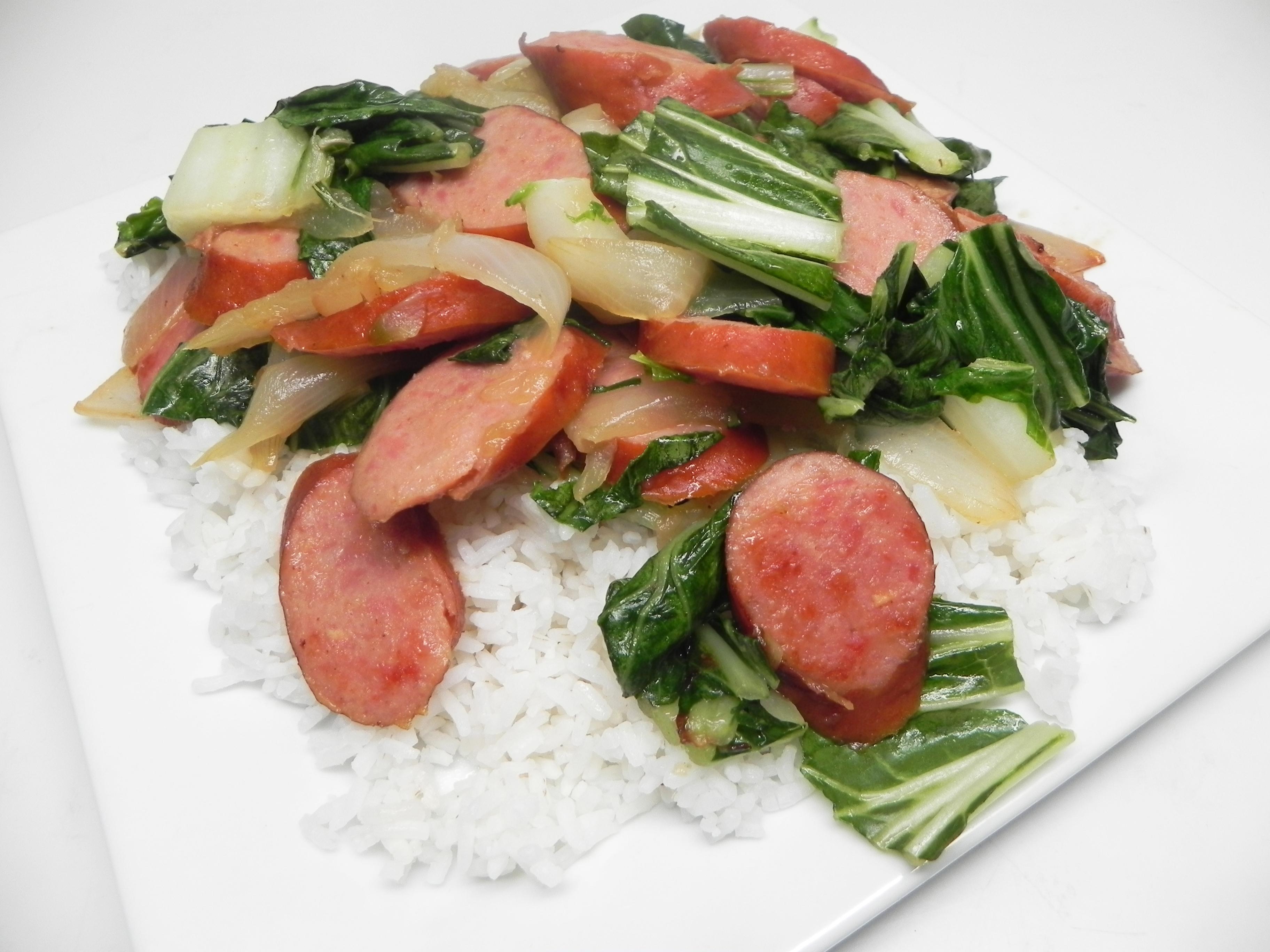 Sausage and Bok Choy Stir-Fry Soup Loving Nicole