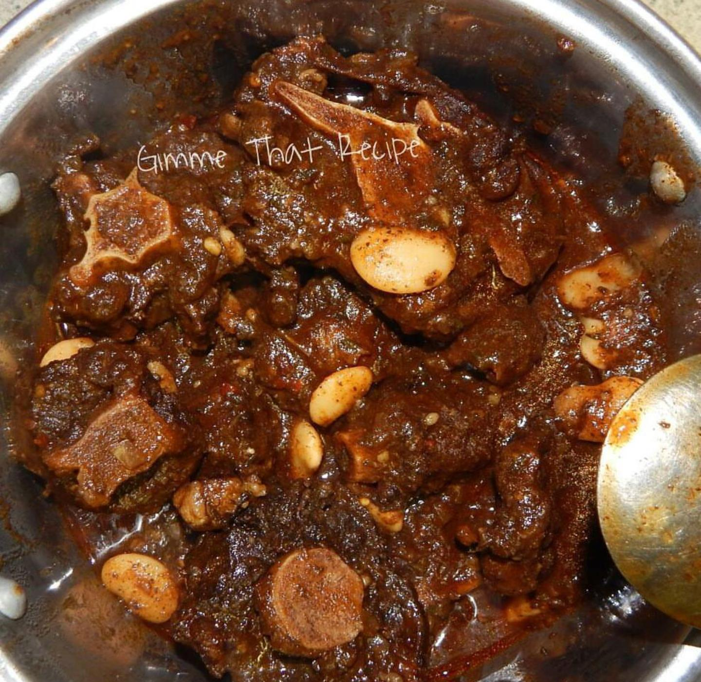 Bayy's Special Jamaican-Style Oxtail Gimme that Recipe! by Bayyinah
