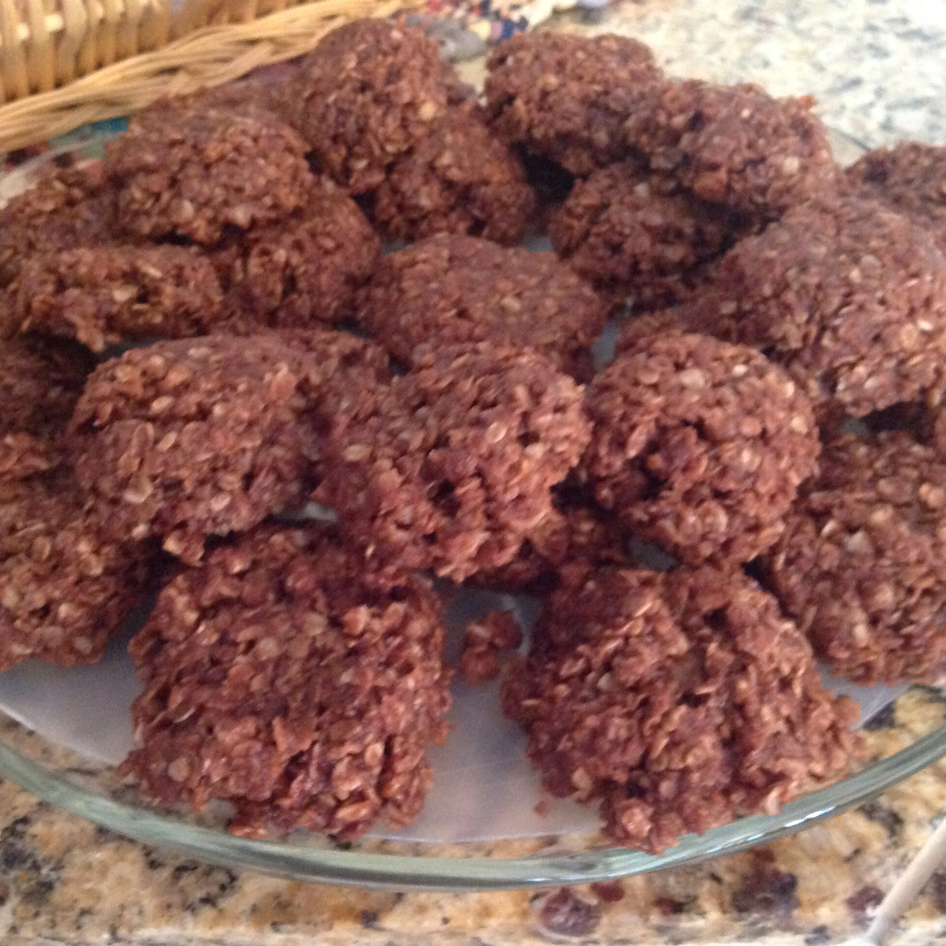 No Bake Fudge Cookies