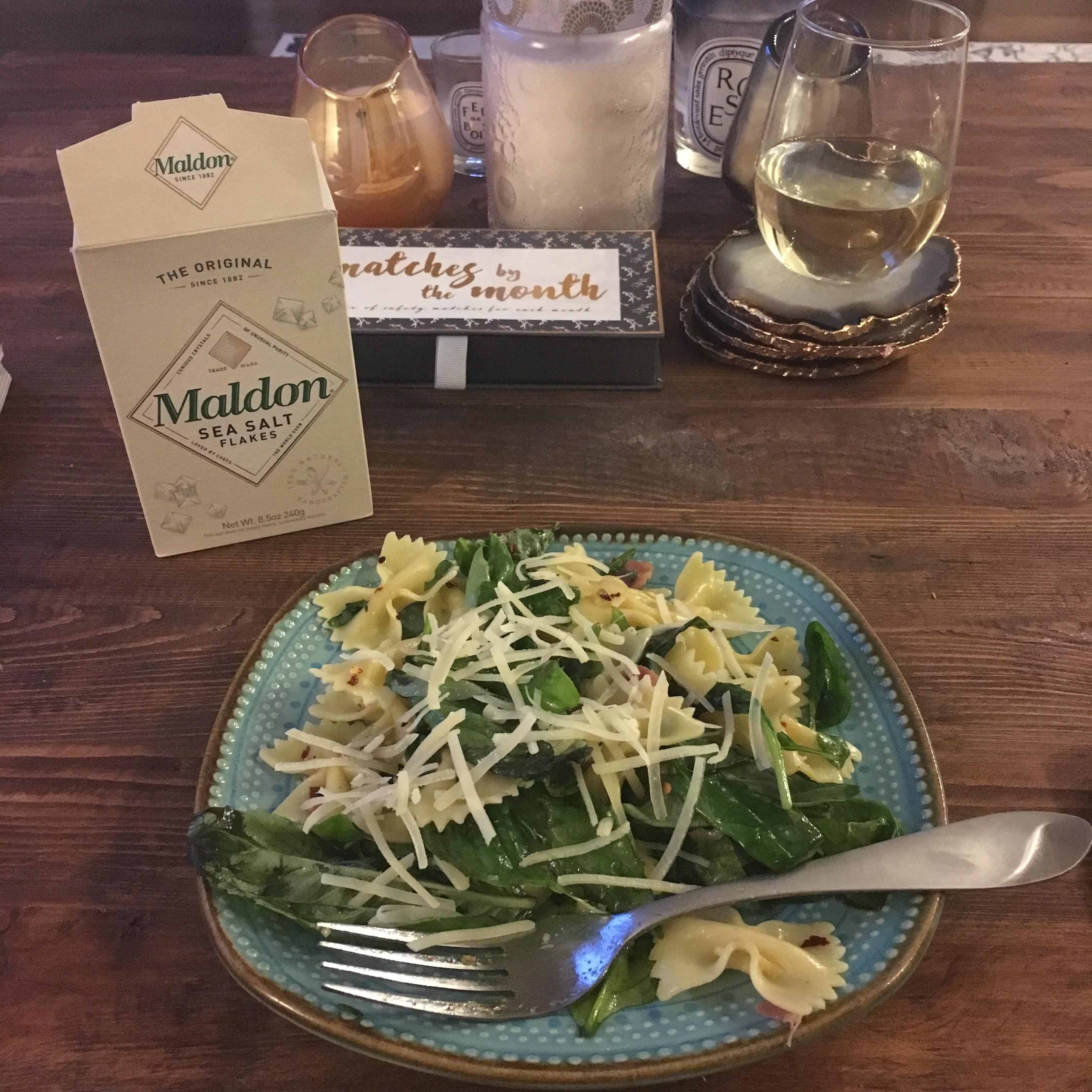 Spinach Basil Pasta Salad gracie