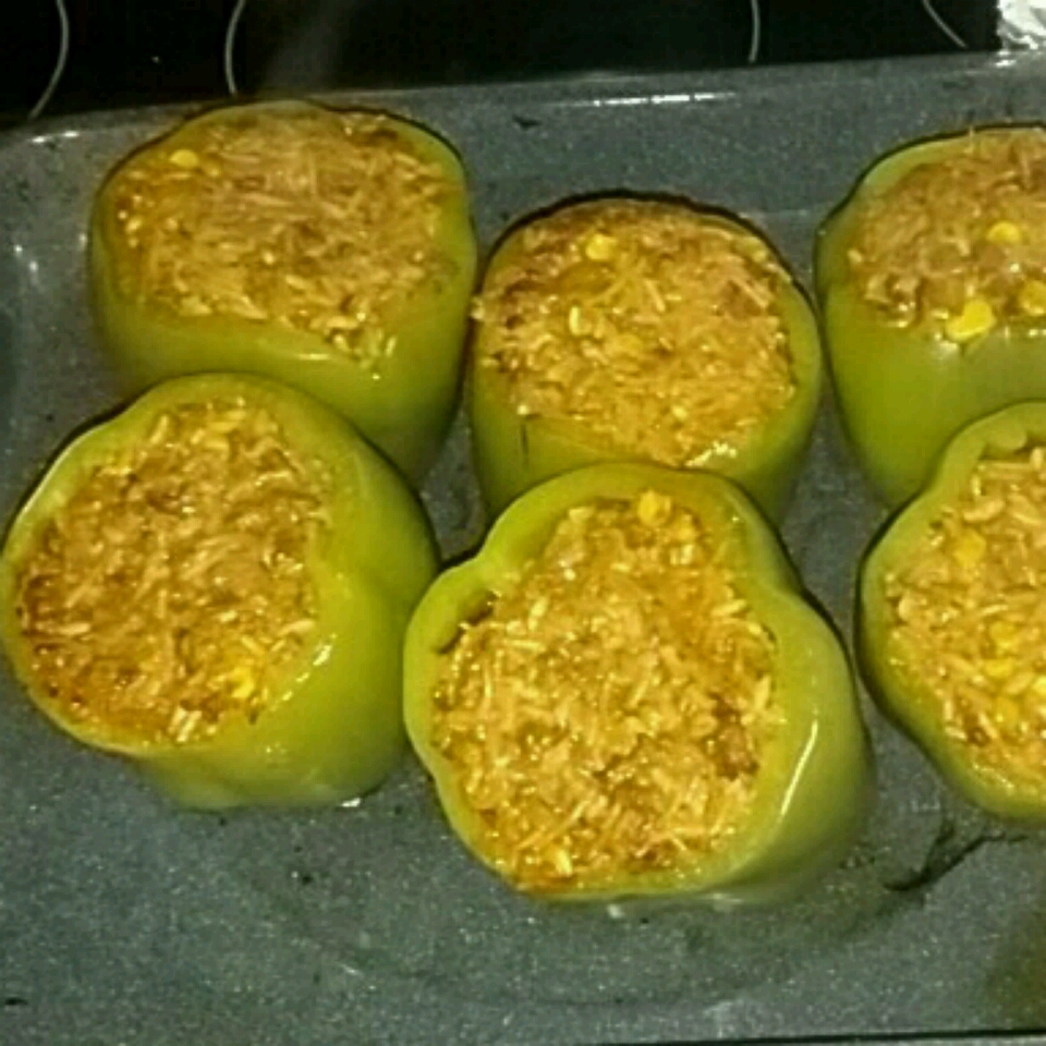 Spanish Rice Stuffed Bell Peppers Rena j