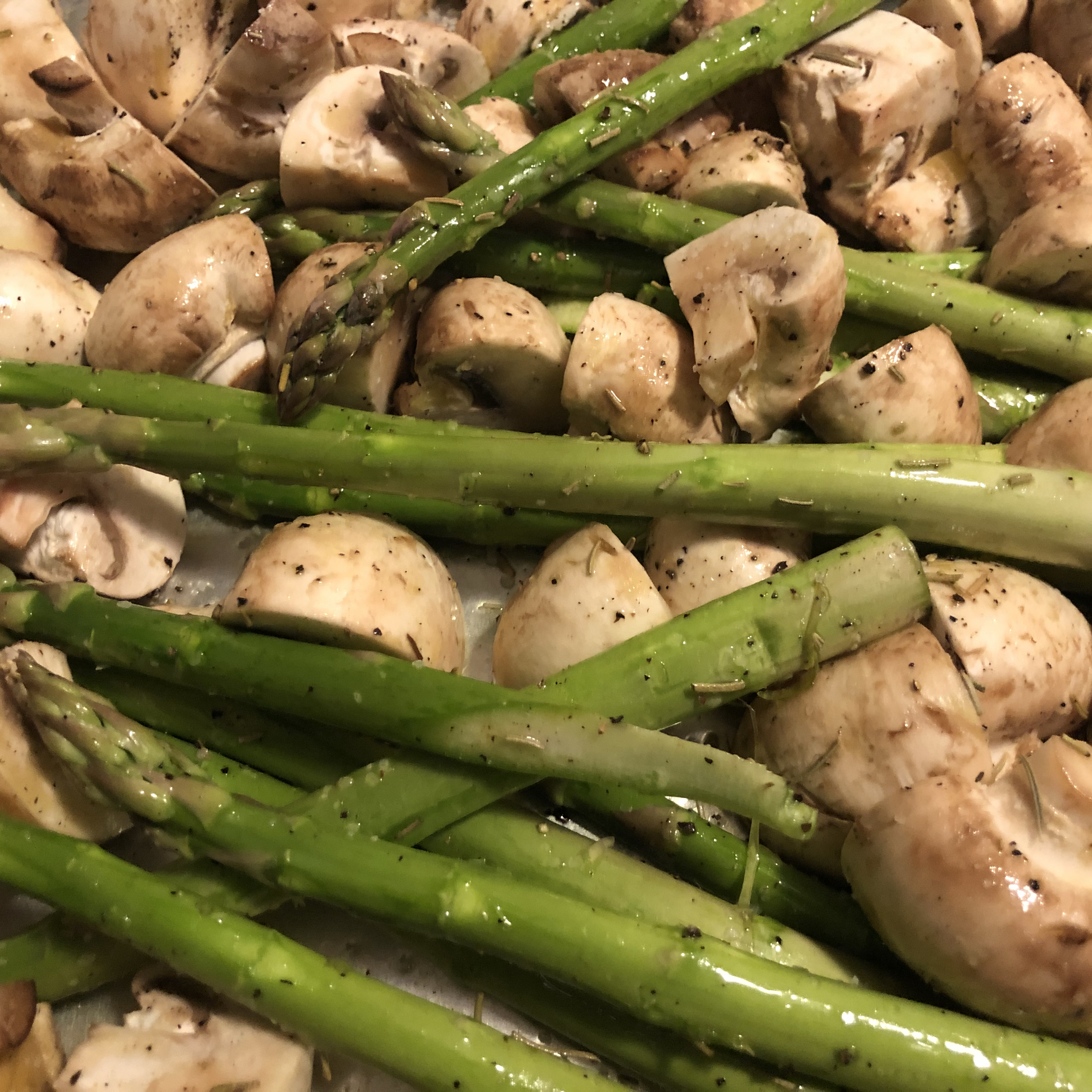 Roasted Asparagus and Mushrooms Mars Sandoval