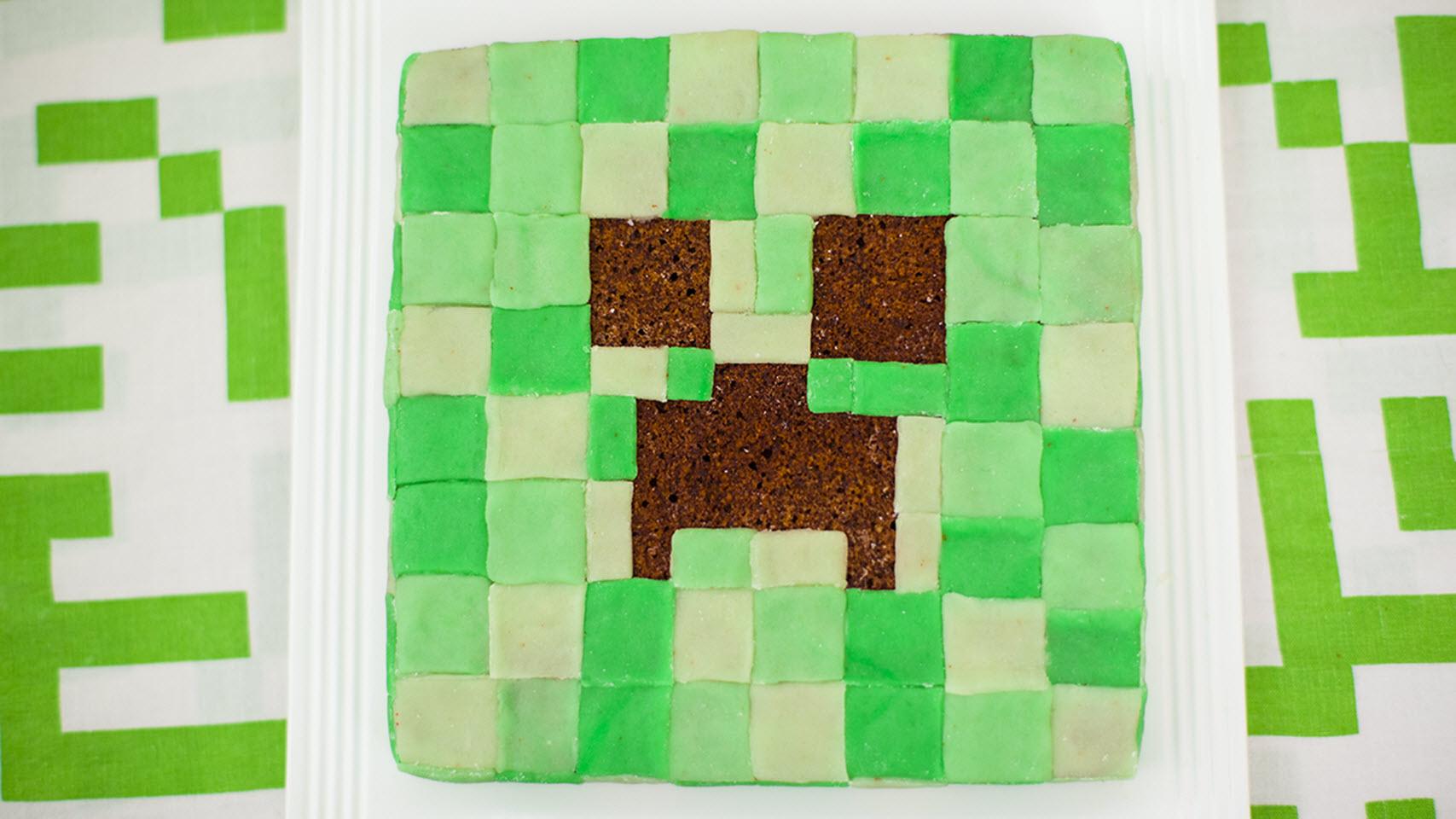 Mine Craft Creeper Cake