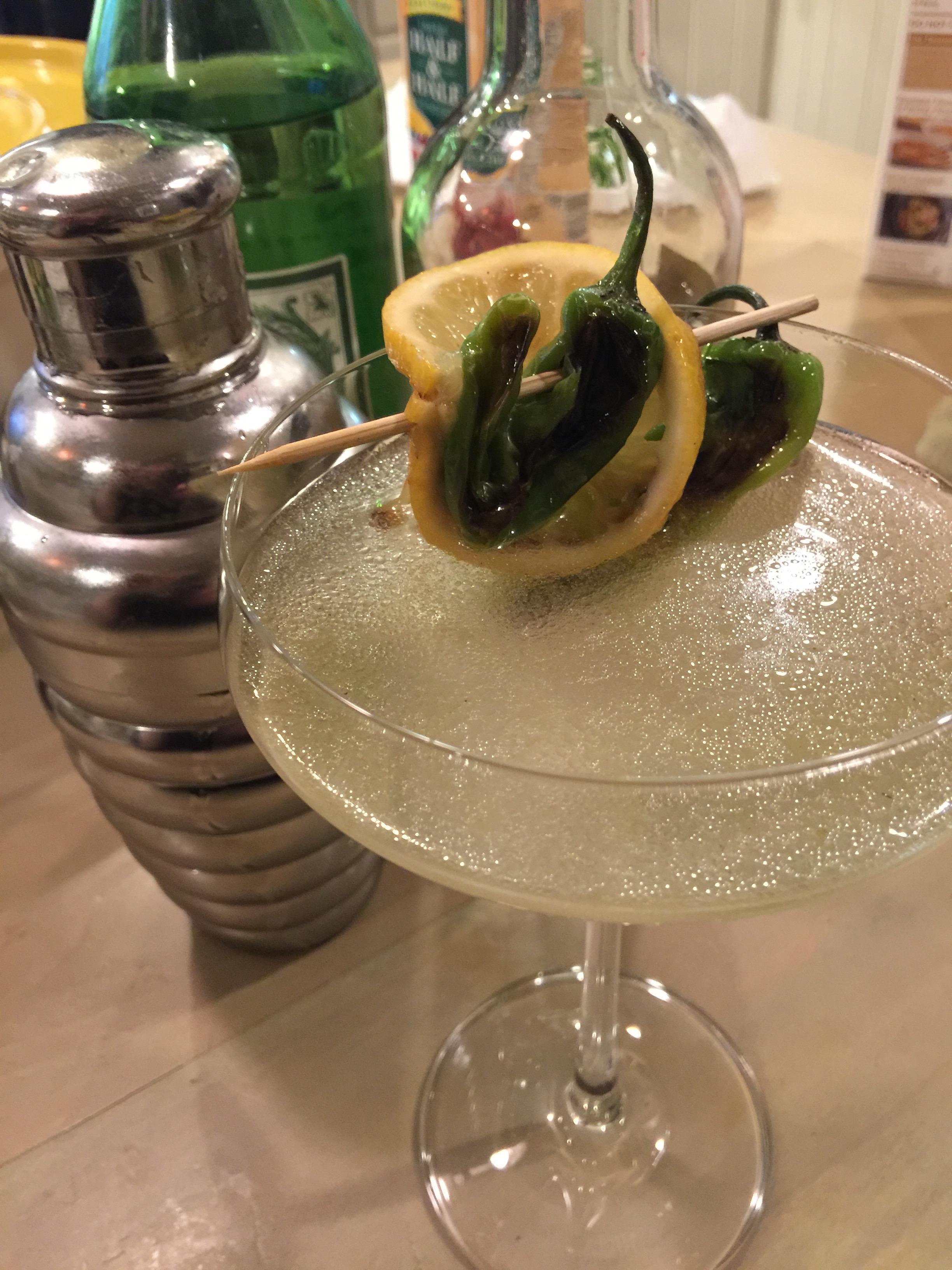 Shishito Pepper Martinis (Peppini)