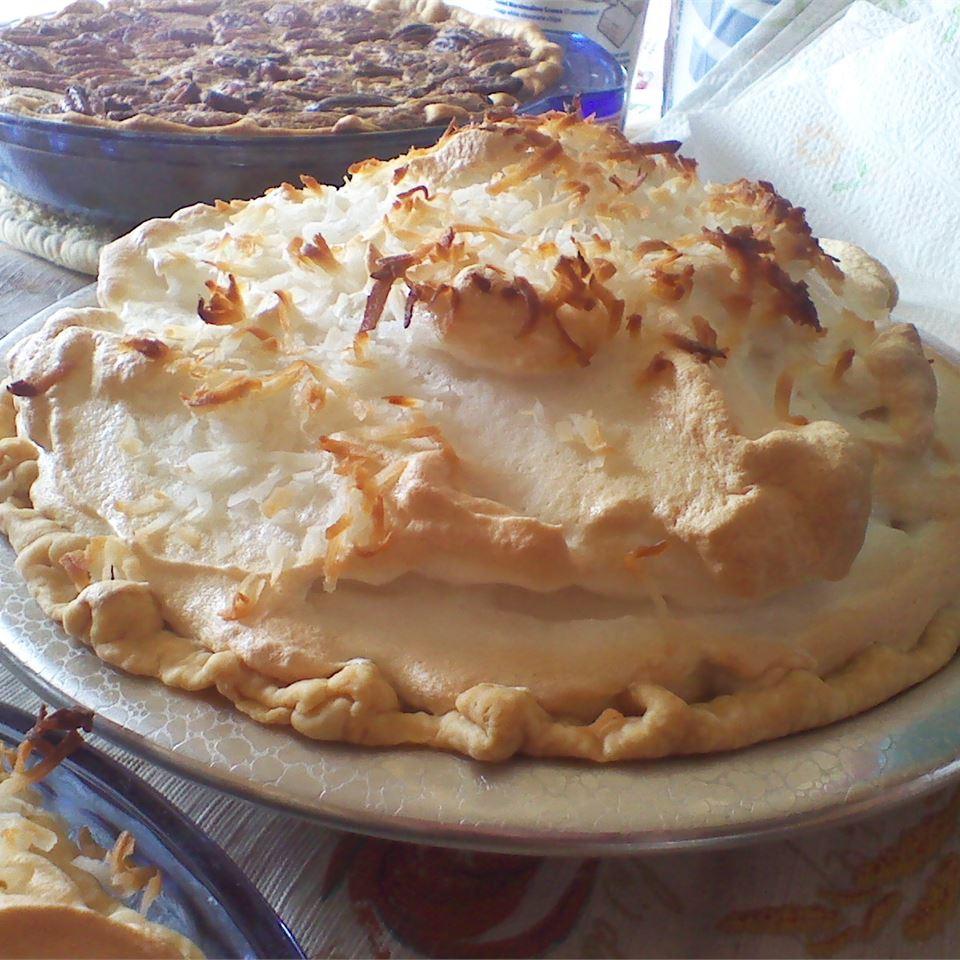 Coconut Marshmallow Cream Meringue Pie MARBALET