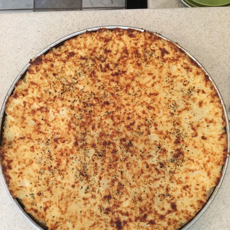 Cheesy Cauliflower Pizza Crust pauly