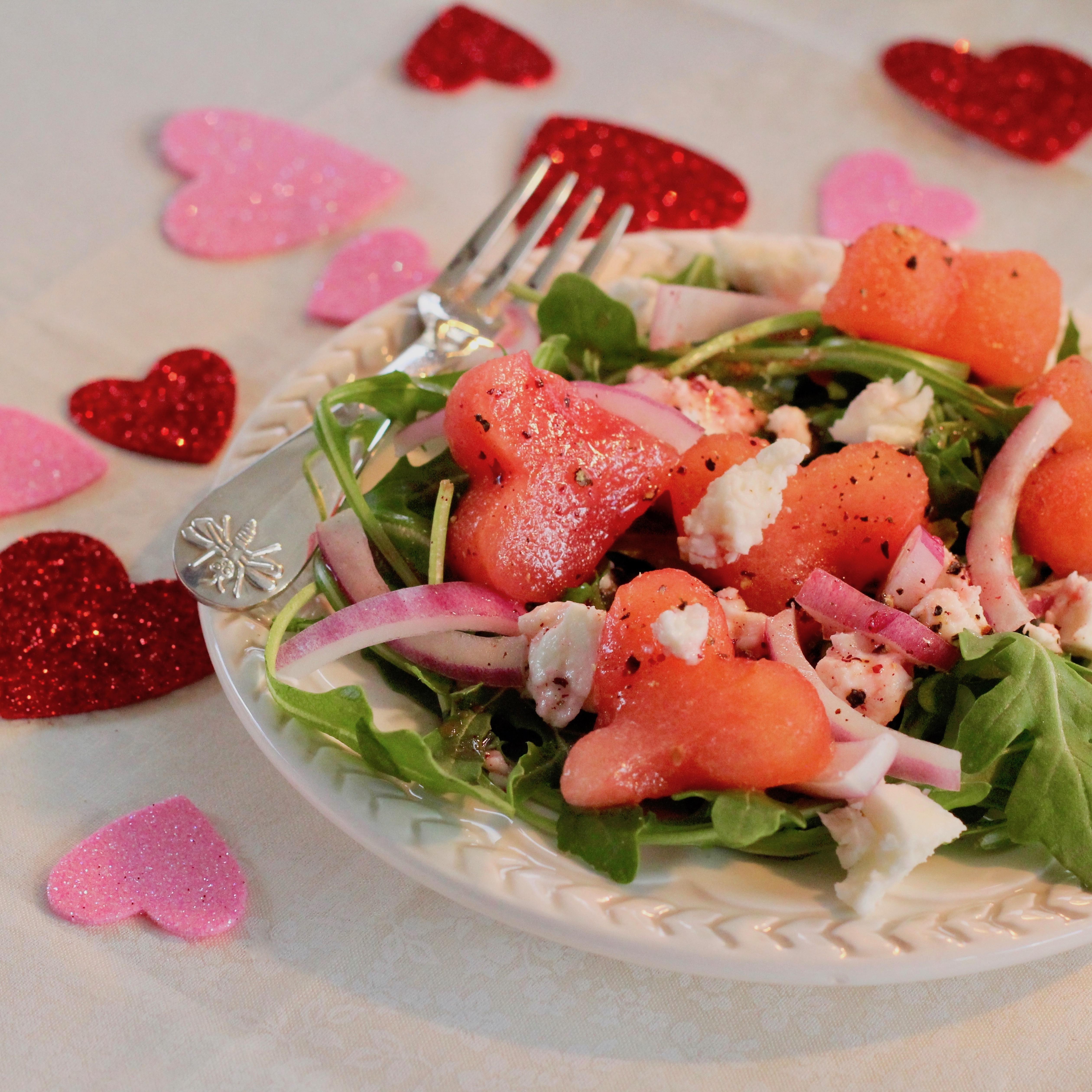 Arugula and Watermelon Salad lutzflcat