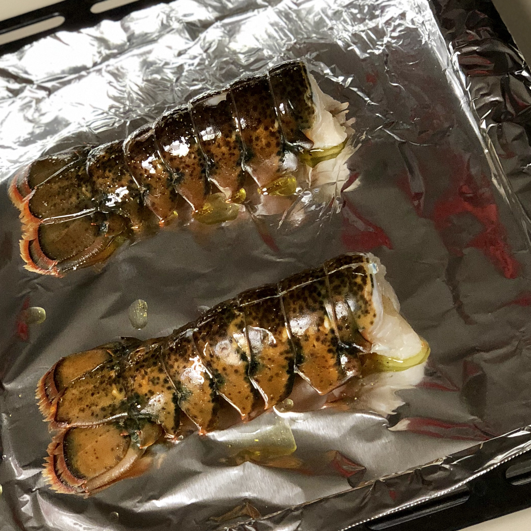 Easy Broiled Lobster Tails fluffykins