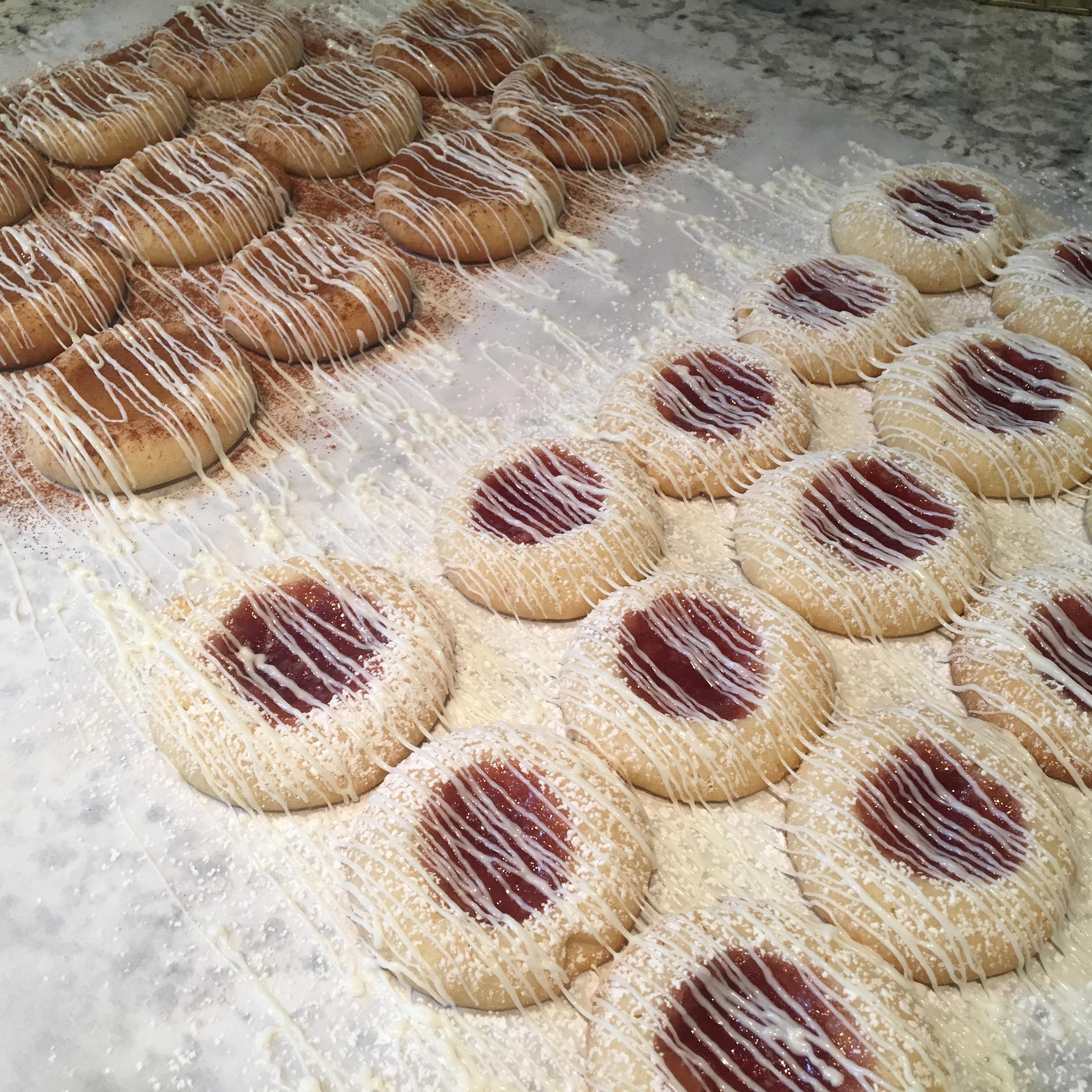 White Chocolate Raspberry Thumbprint Cookies Adam Young