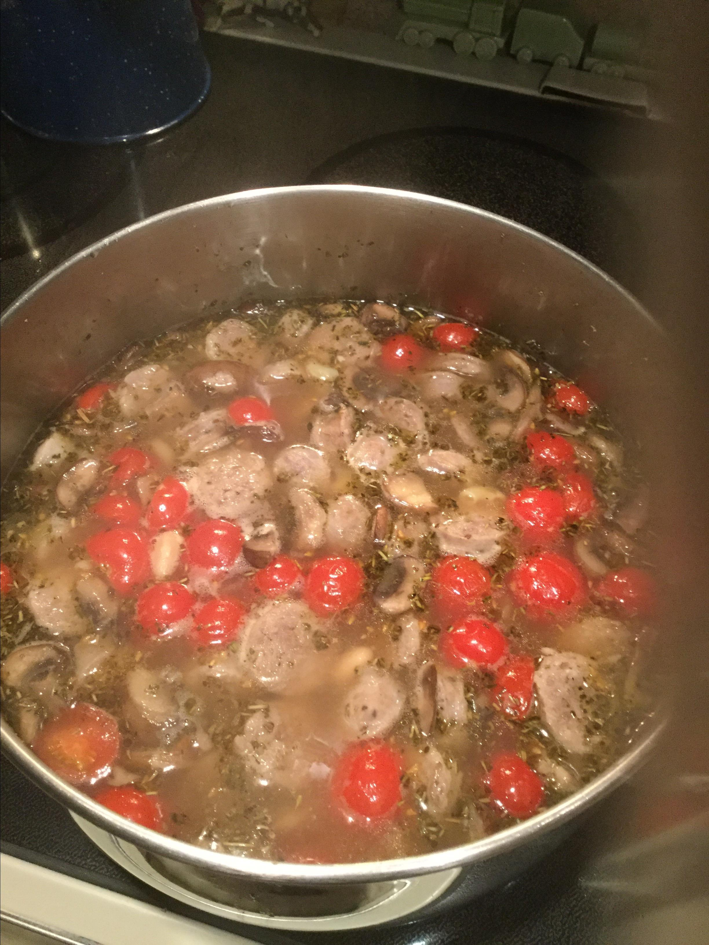 Gluten Free Elbows with Mixed Mushrooms and Italian Sausage Soup Mags52