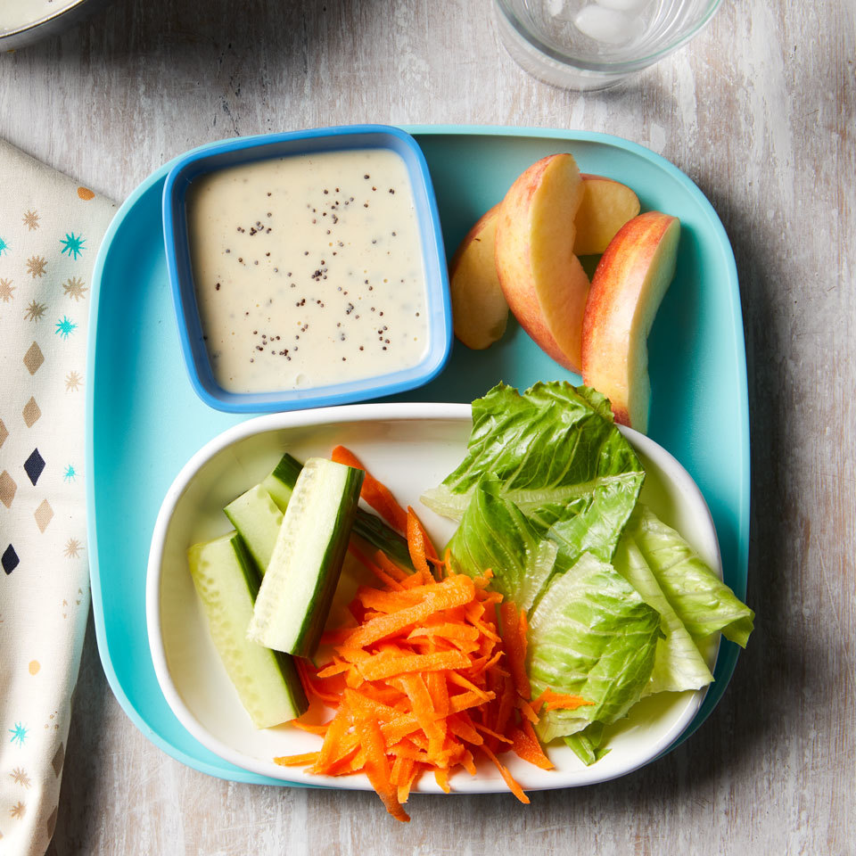 Make salad something your kids will actually want to eat with this kid-friendly crudité. Put it out before dinner and watch them eat all their veggies without a fuss! Source: EatingWell.com, February 2018