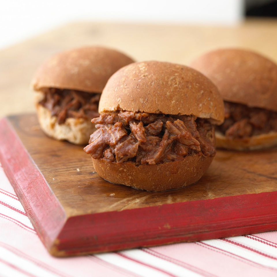 Pressure-Cooker Barbecue Beef Sandwiches Diabetic Living Magazine