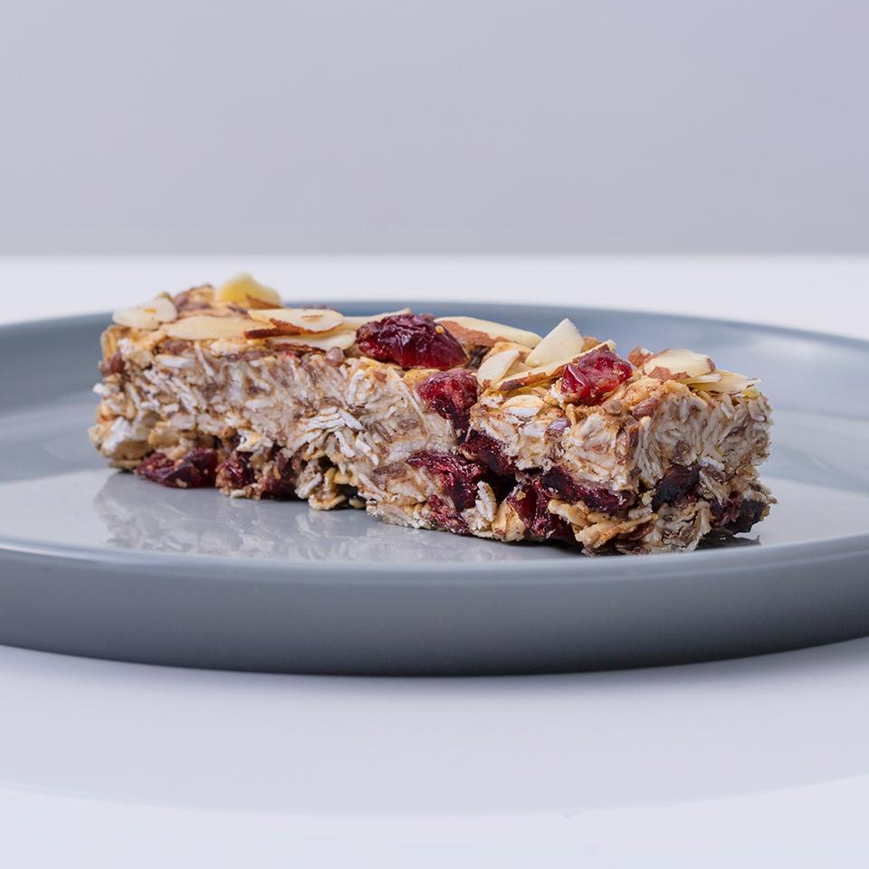 Cranberry-Almond-Flax Oat Bars