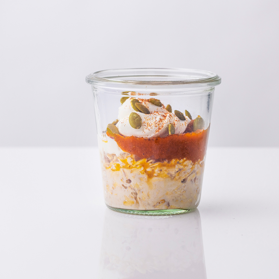 Maple-Pumpkin Overnight Oats