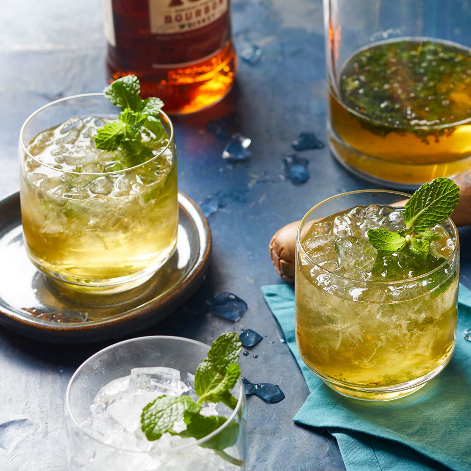 These traditional mint juleps are a staple in the South--especially for the Kentucky Derby. Whip them up at home with this easy recipe. Source: EatingWell.com, February 2018