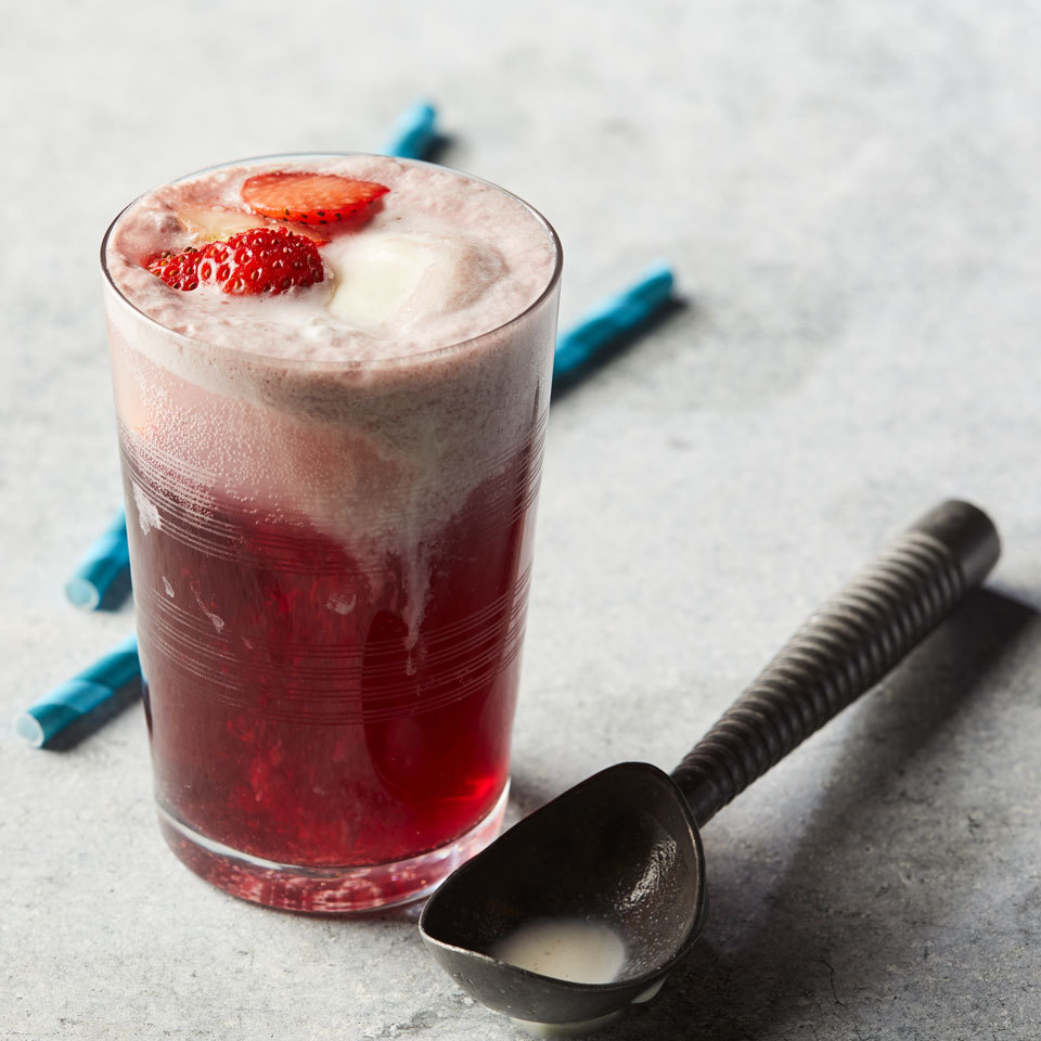 Step up your cocktail game with this unlikely combination that is not only completely delicious, but also gorgeous. Two of your favorites--red wine and ice cream--are combined to make a fun, fruity dessert cocktail. Source: EatingWell.com, February 2018