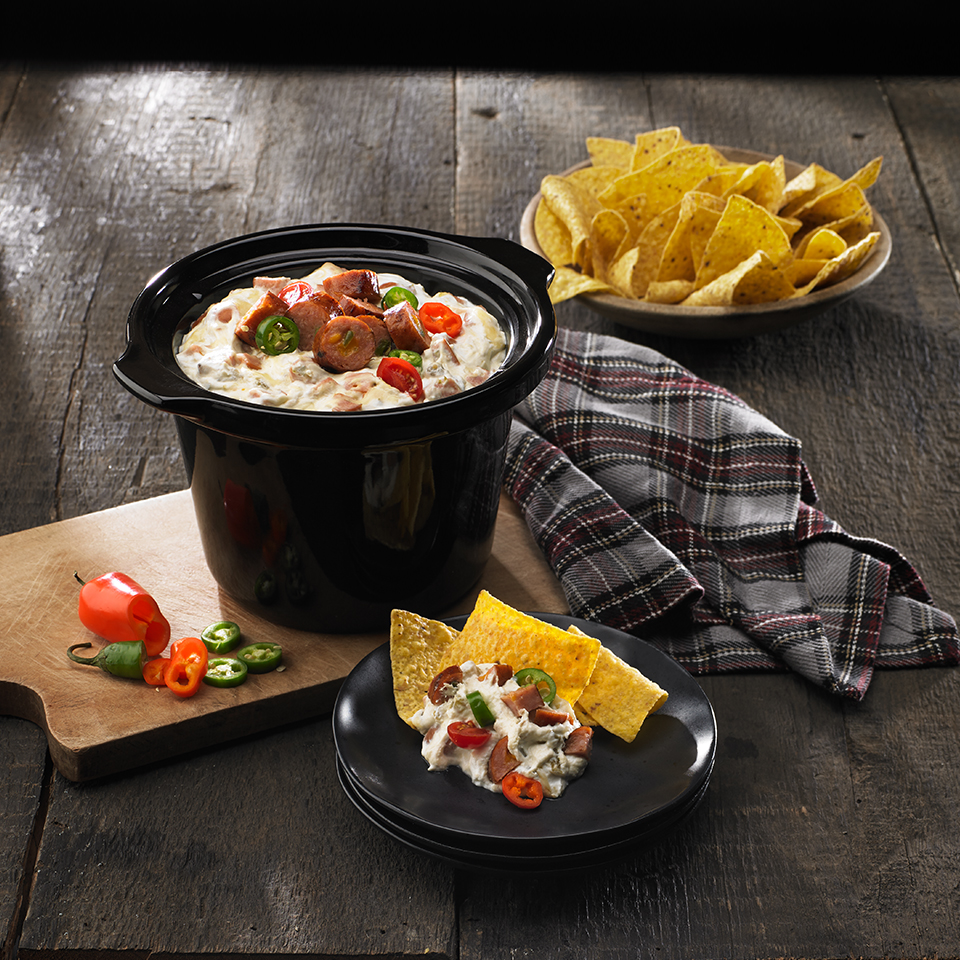 Queso Blanco and Black Bean Slow Cooker Dip