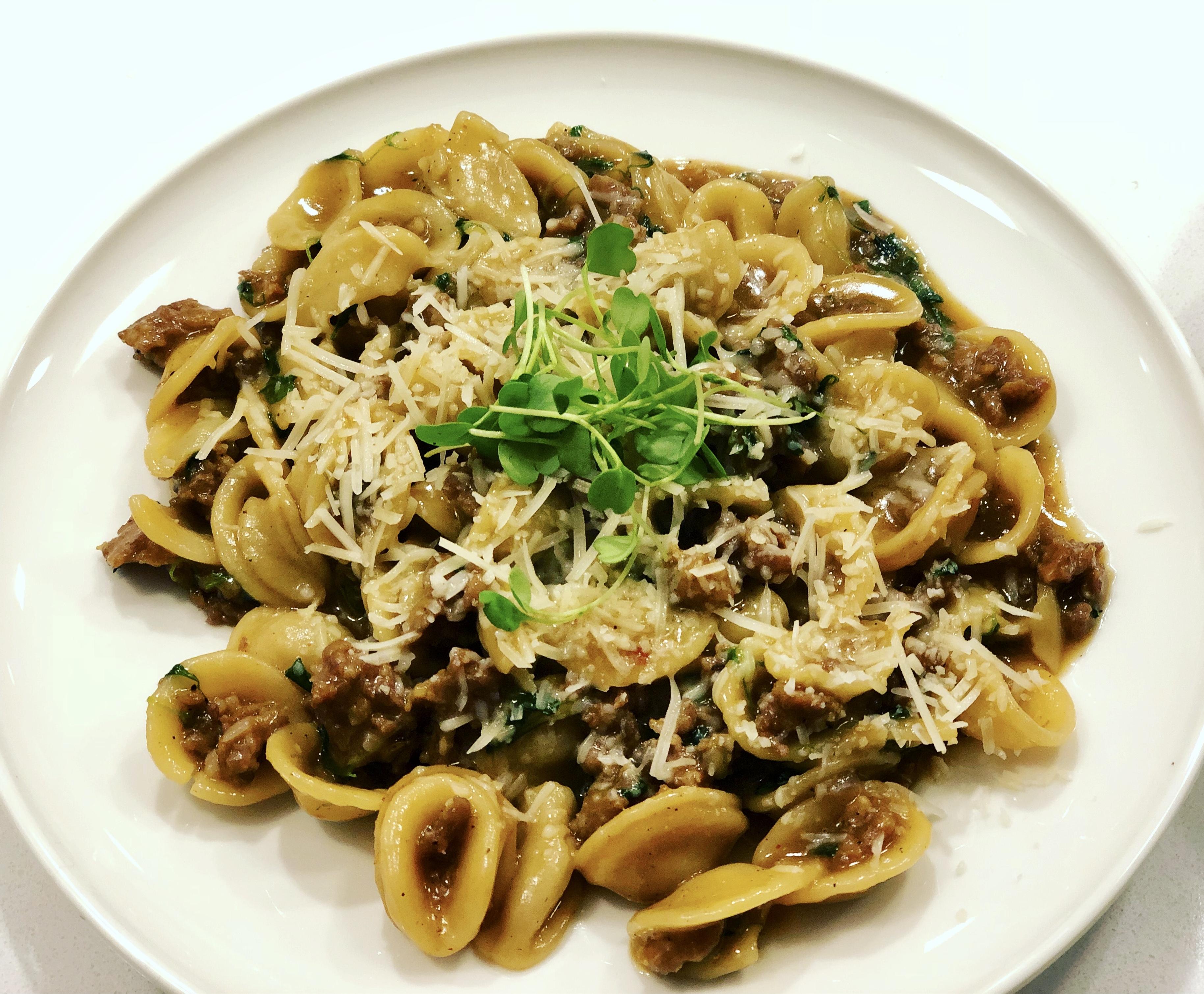 One Pan Orecchiette Pasta cellofello