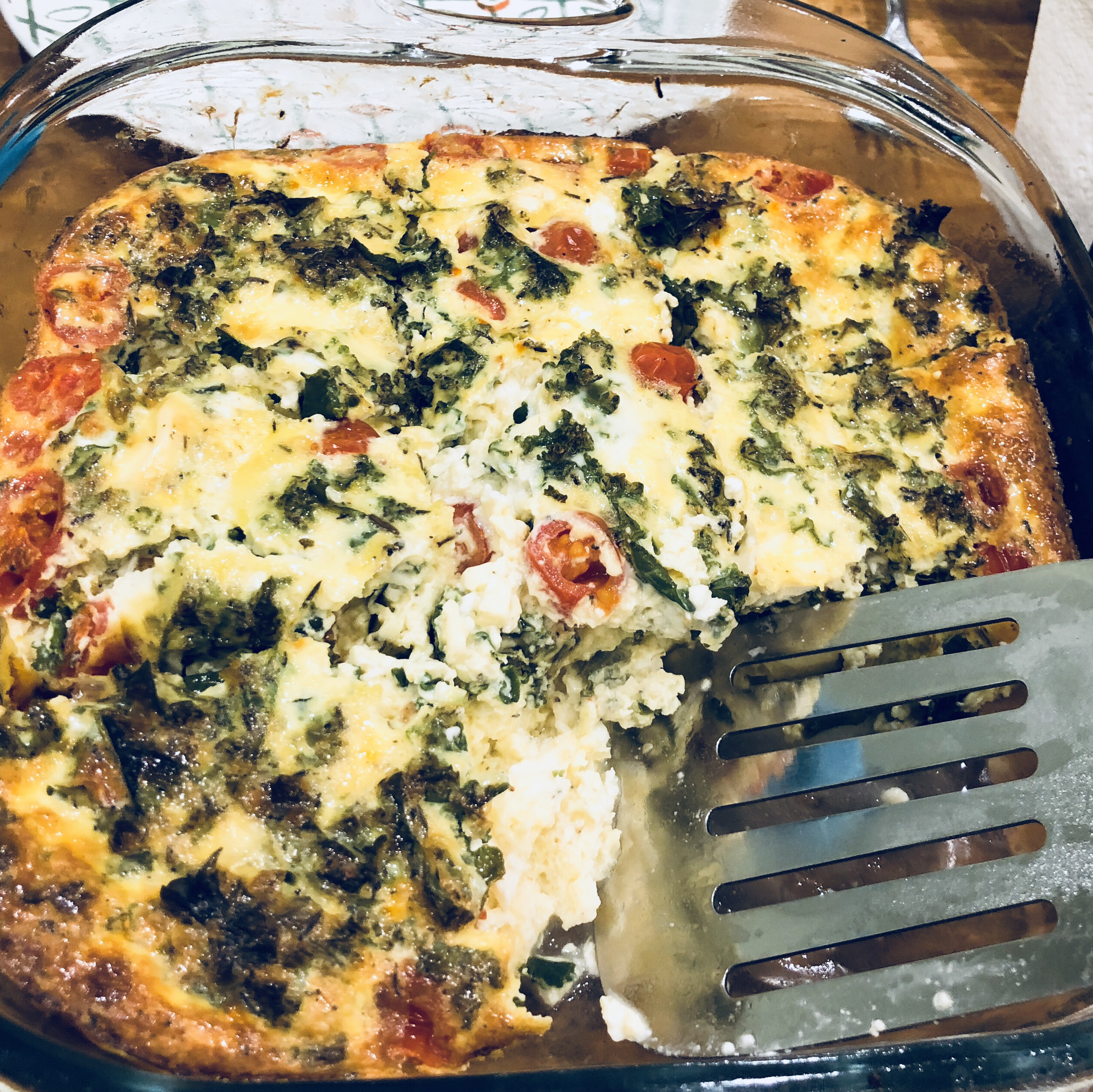Oven Baked Omelet with Feta and Tomatoes BelovedApple