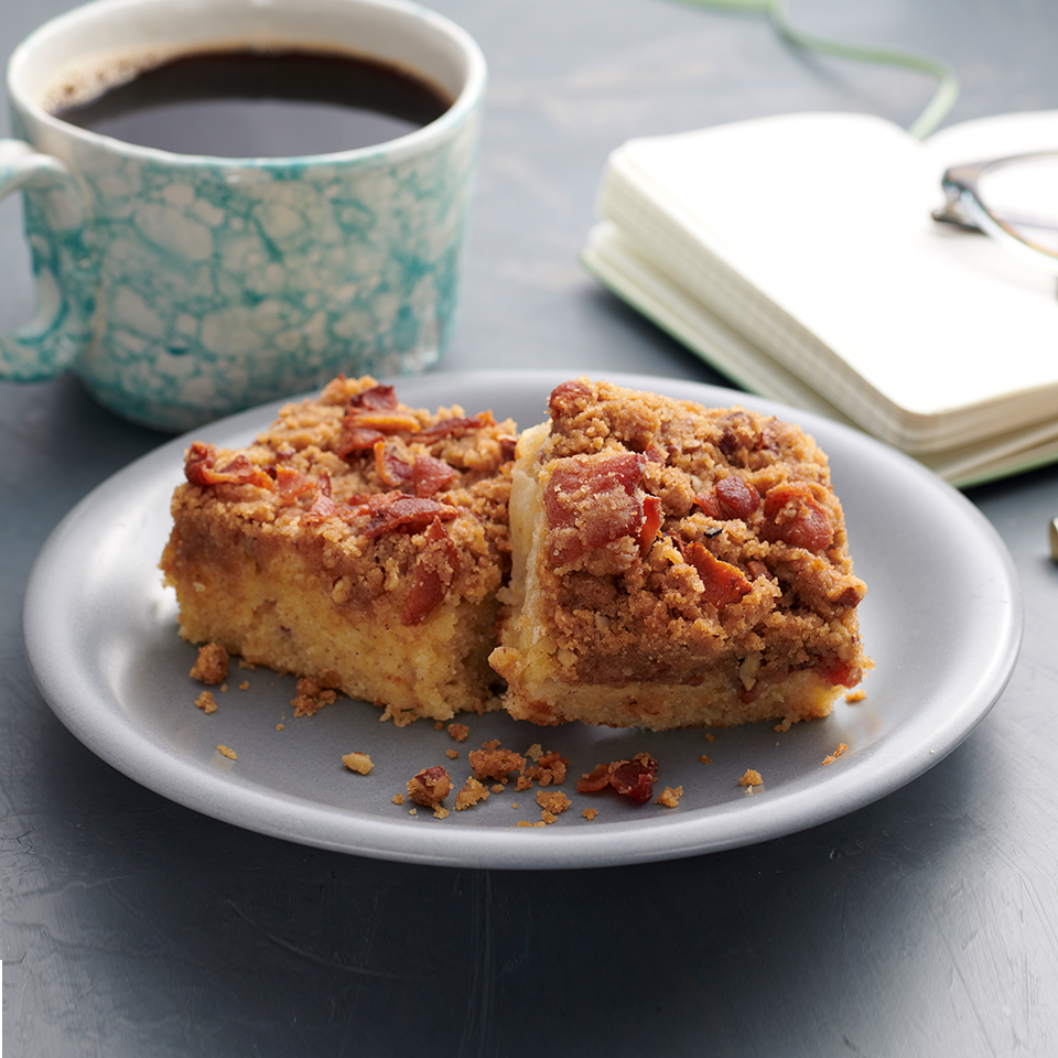 Apple-Bacon Coffee Cake with Brown Butter Streusel