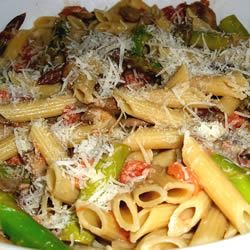 Penne with Asparagus and Mushrooms Another Black Swan