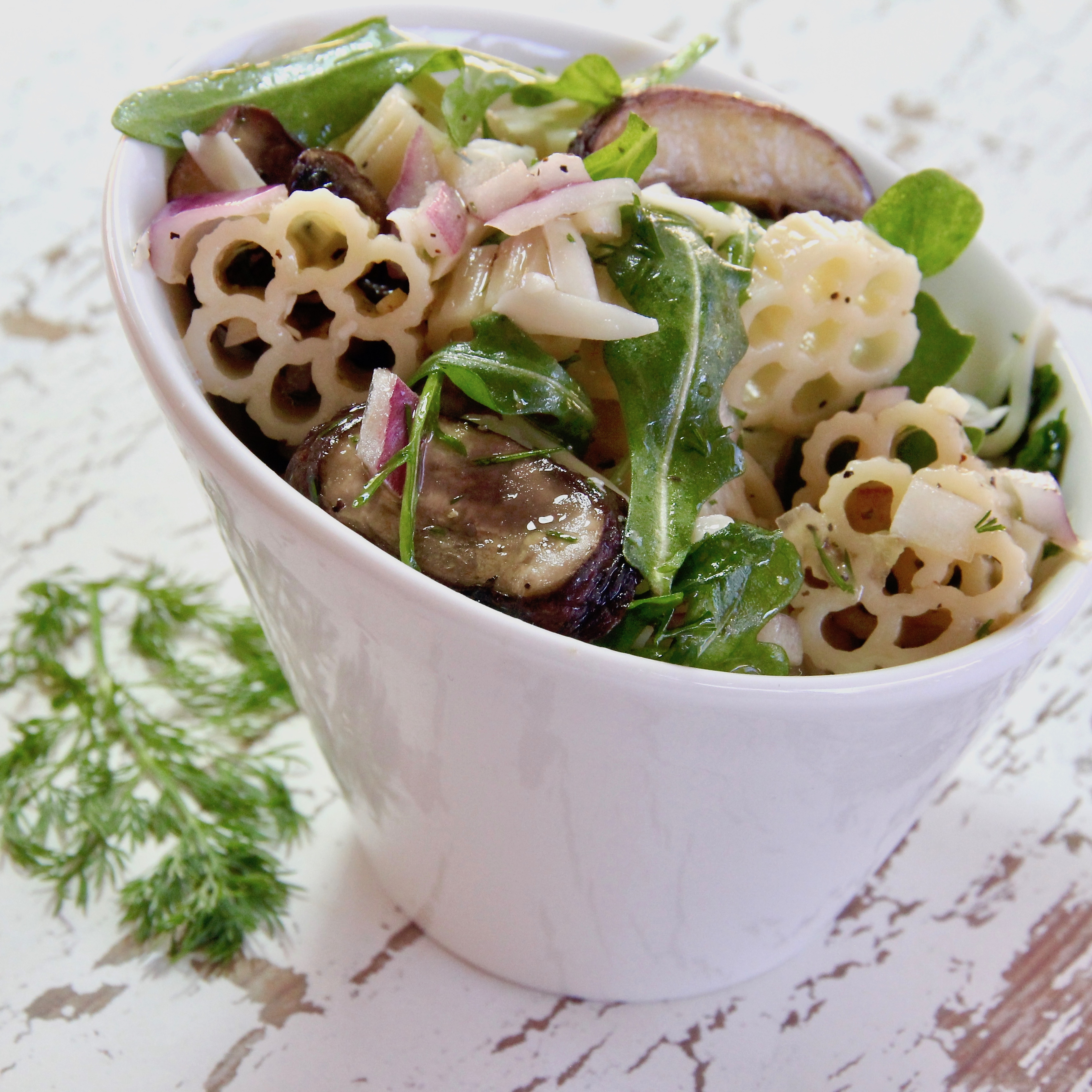 Gruyere and Mushroom Pasta Salad