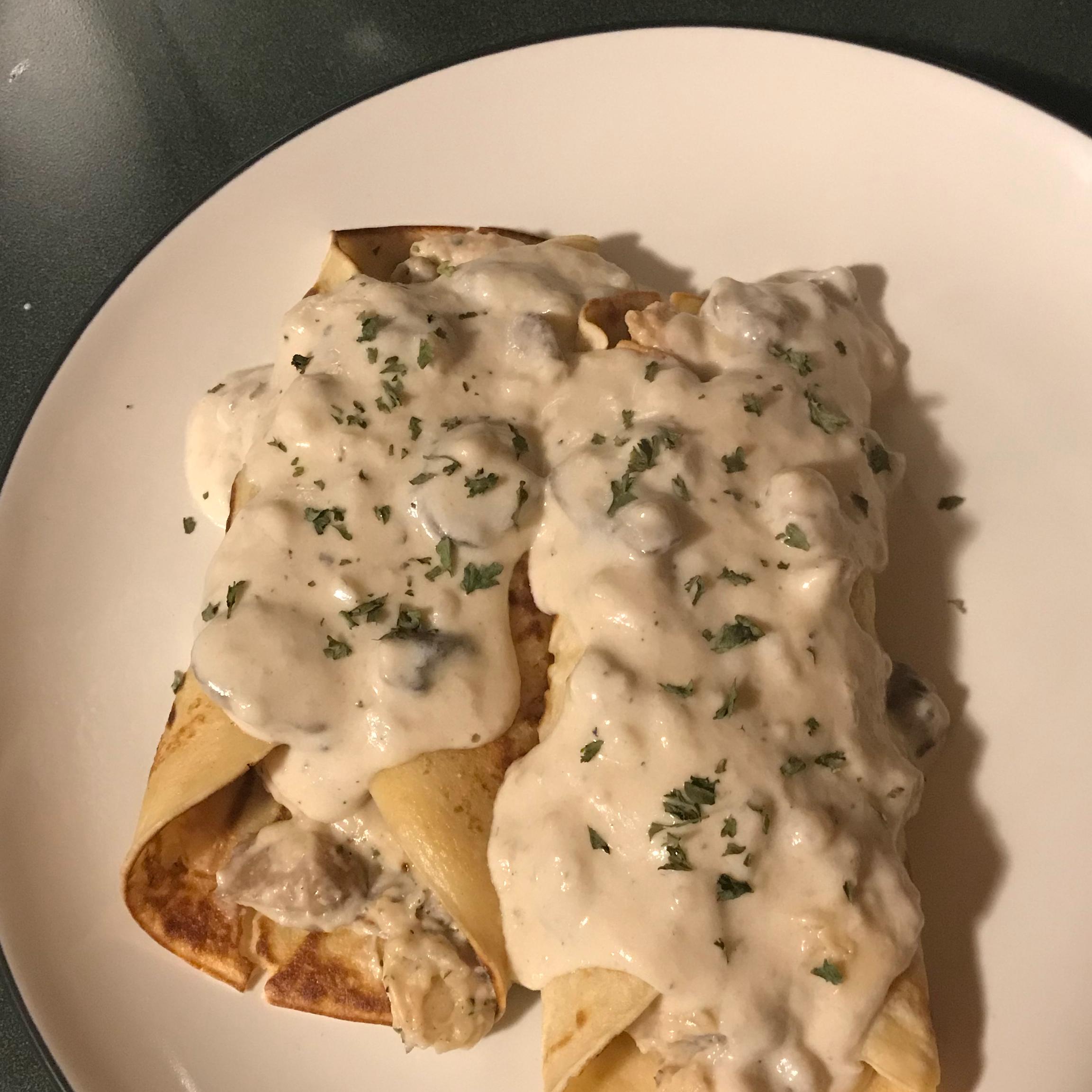 Chicken And Mushroom Crepes Recipe Allrecipes