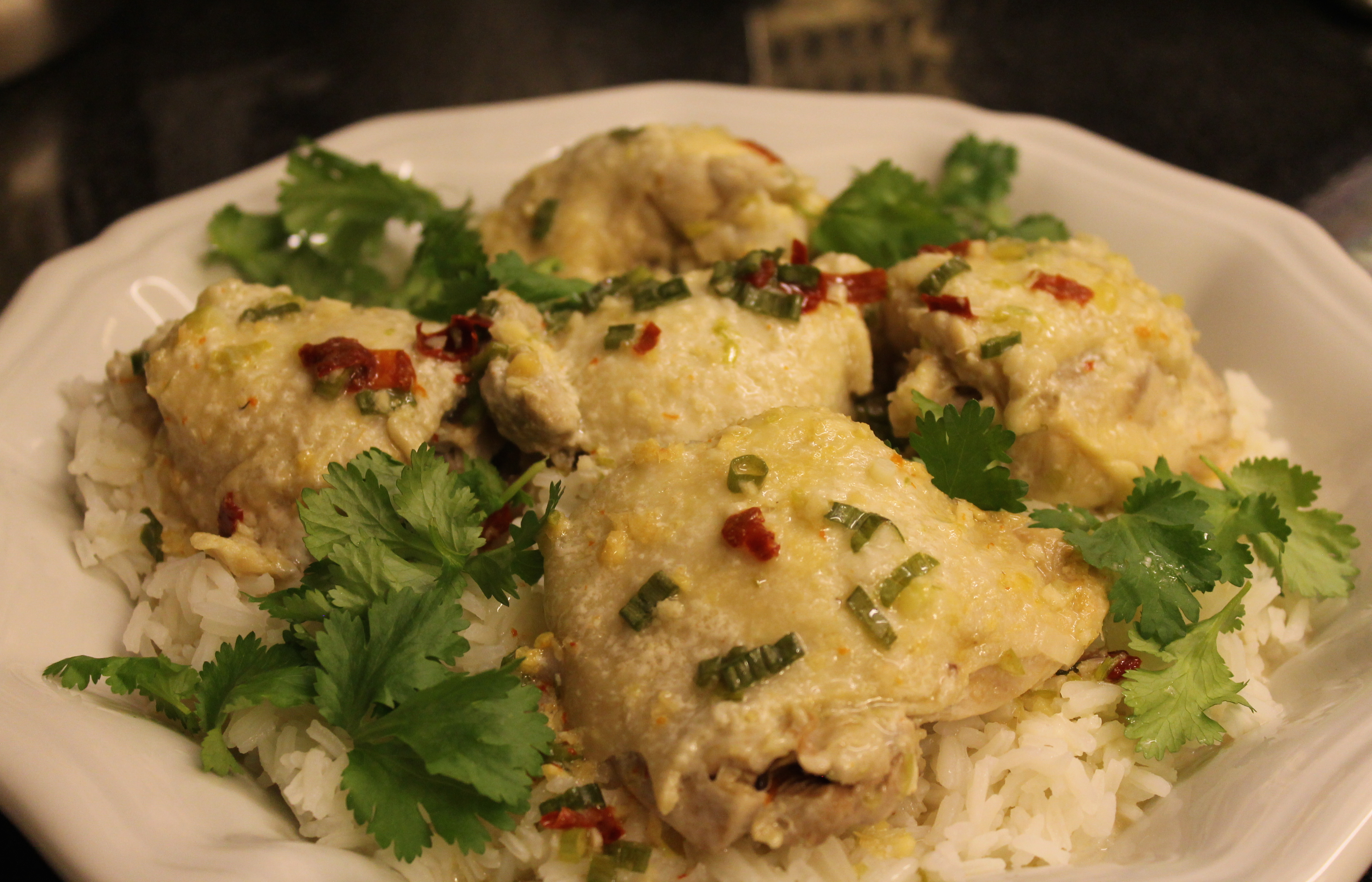 Juicy Asian Steamed Chicken Thighs crys