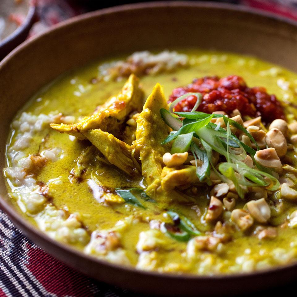 Jakarta-Style Savory Rice Porridge (Bubur Ayam Betawi) JJ Goode