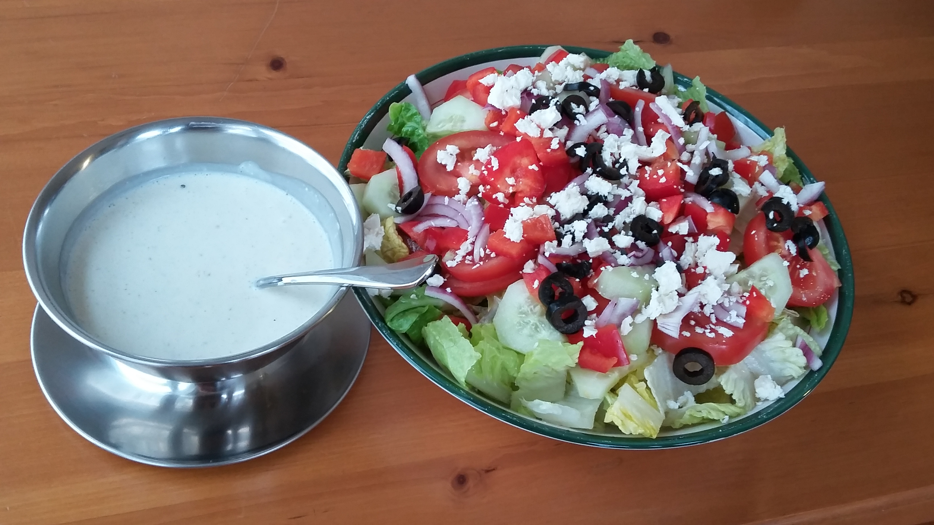 American-Style Creamy Greek Dressing the4taals