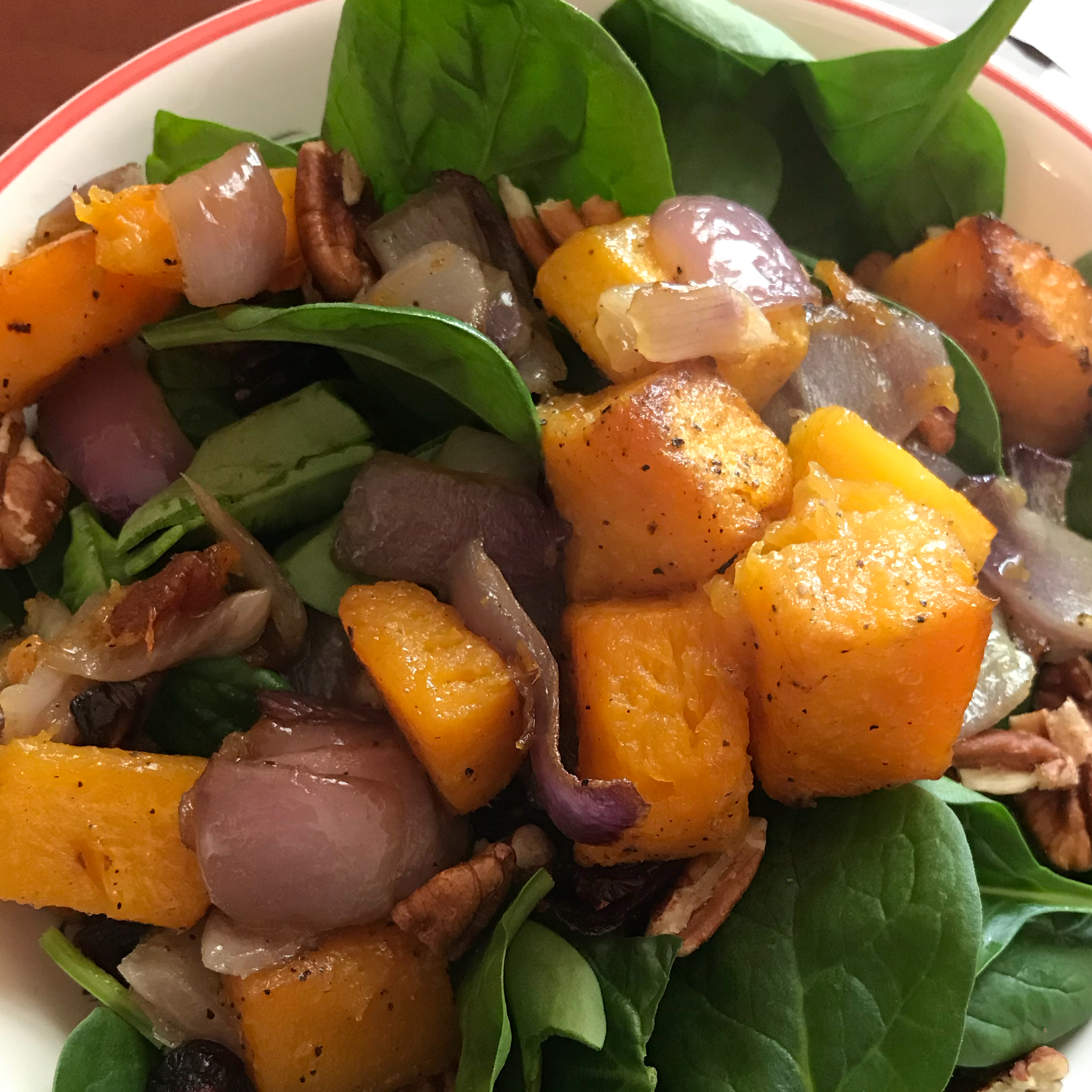 Roasted Butternut Squash with Onions, Spinach, and Craisins® Jeannine Gama Hubbard
