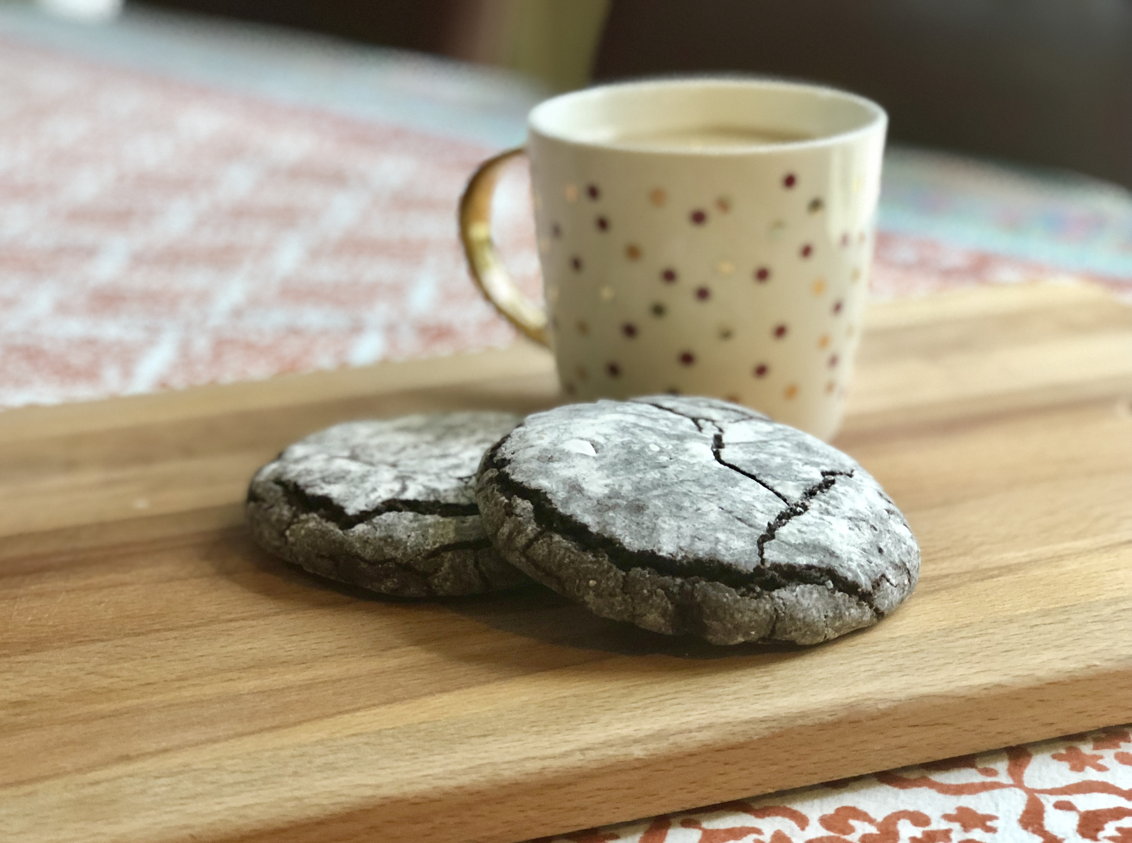These vegan crinkles are rich and chocolaty, staying true to the original recipe that calls for eggs.