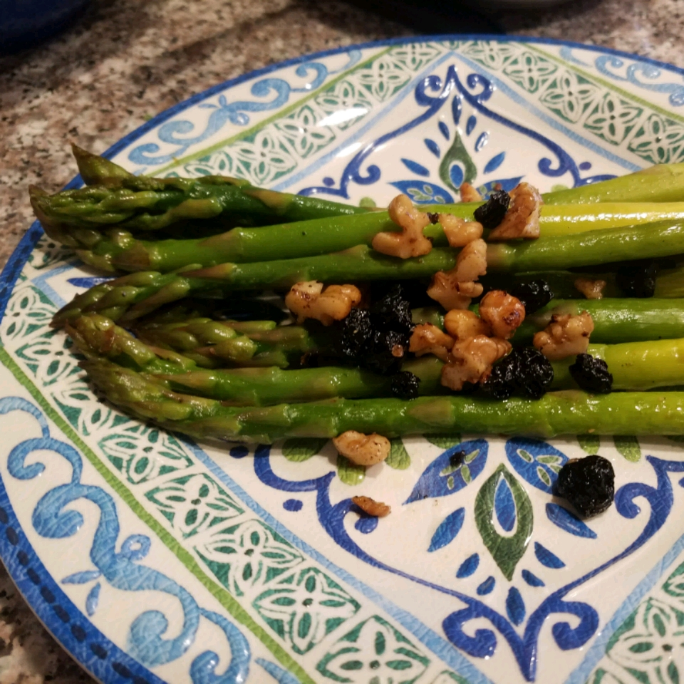 Asparagus with Cranberries and Pine Nuts Elvira Silva