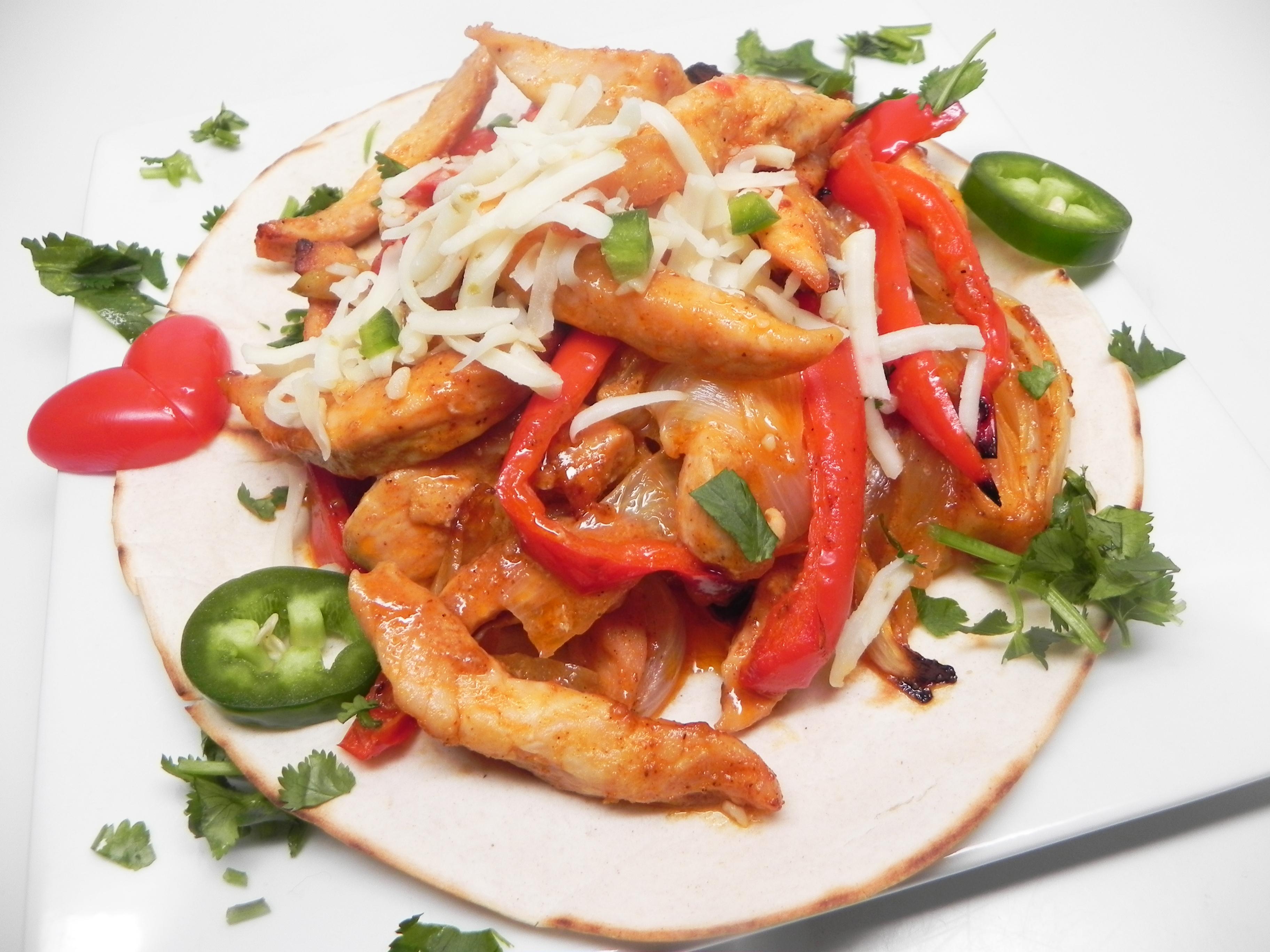 Oven-Baked Chicken Fajitas