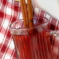 Hot Spiced Cranberry Cider mominml